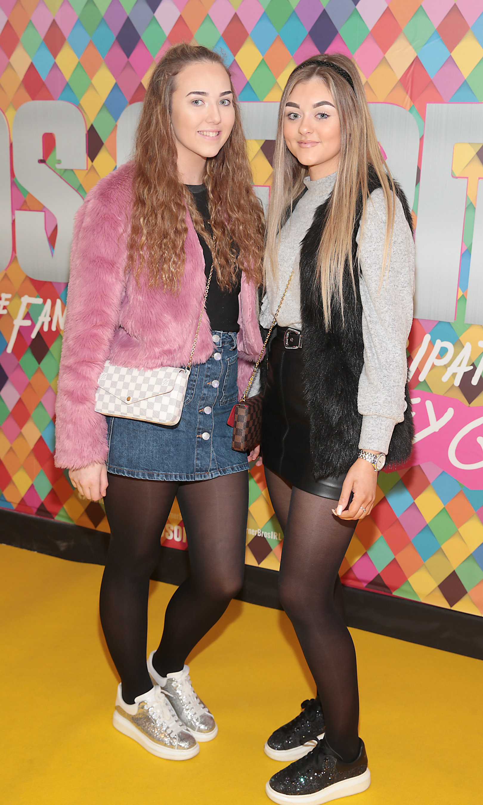 Katie  Smith and Aoife Gleeson at the Irish Premiere screening of Birds of Prey at Cineworld, Dublin. Pic: Brian McEvoy
