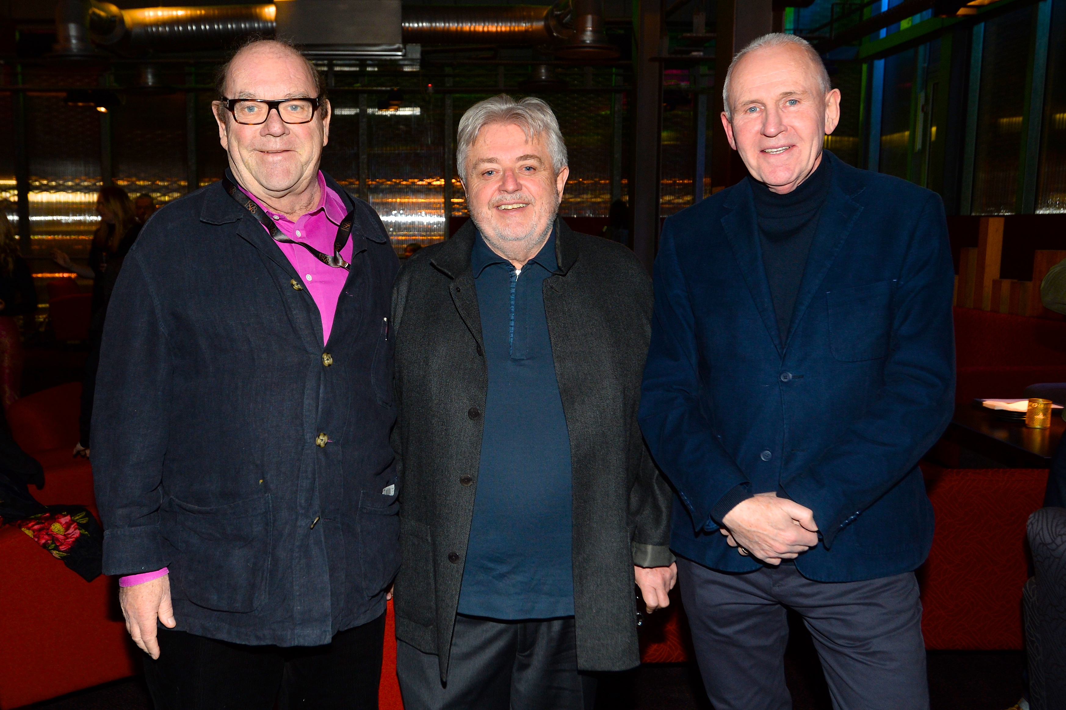 Paul McGuinness, Bill Whelan and John Hughes at the album launch of Riverdance  - 25th anniversary show at the 3Arena in Dublin. Photo: Justin Farrelly.