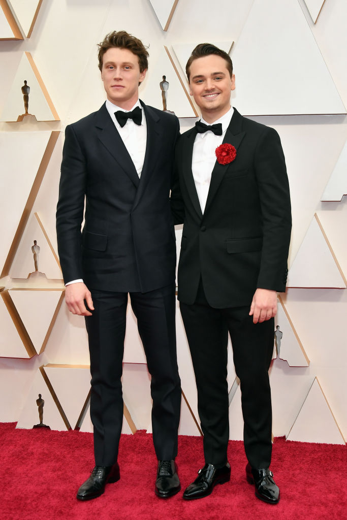 George MacKay and Dean-Charles Chapman attend the 92nd Annual Academy Awards at Hollywood and Highland on February 09, 2020 in Hollywood, California. (Photo by Amy Sussman/Getty Images)