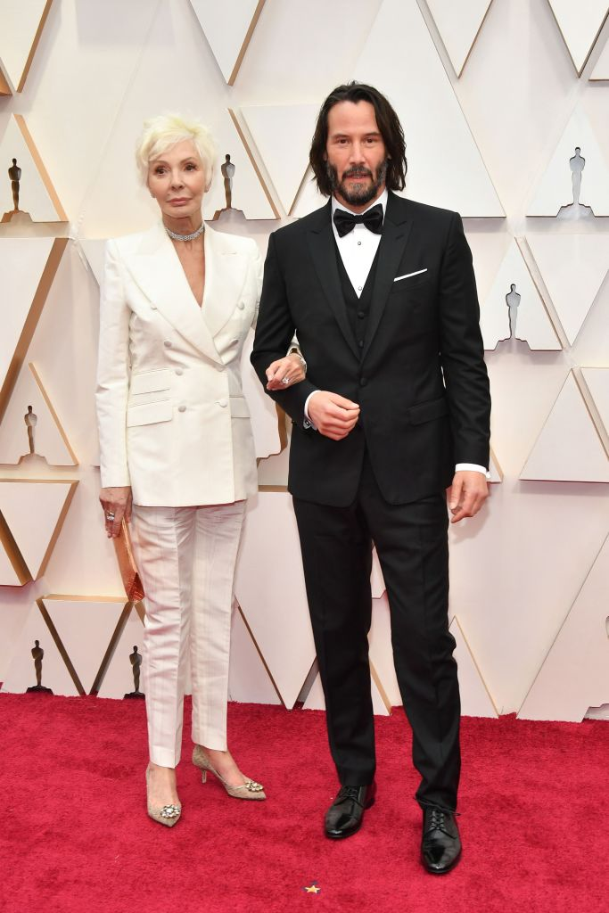 Patricia Taylor (L) and Keanu Reeves attends the 92nd Annual Academy Awards at Hollywood and Highland on February 09, 2020 in Hollywood, California. (Photo by Amy Sussman/Getty Images)
