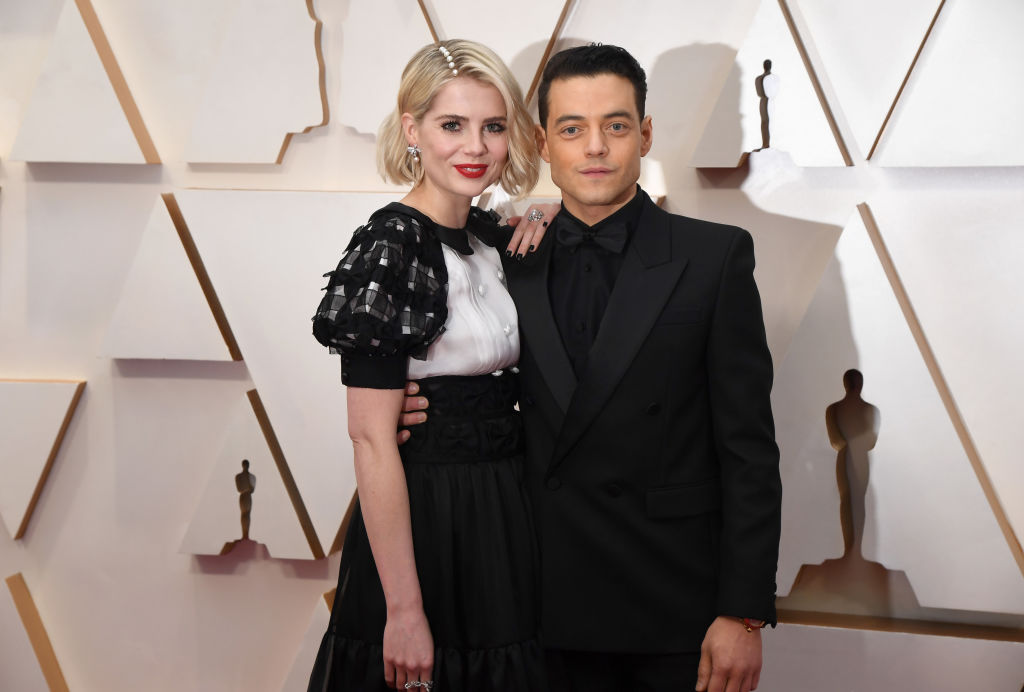 Lucy Boynton and Rami Malek attend the 92nd Annual Academy Awards at Hollywood and Highland on February 09, 2020 in Hollywood, California. (Photo by Jeff Kravitz/FilmMagic)