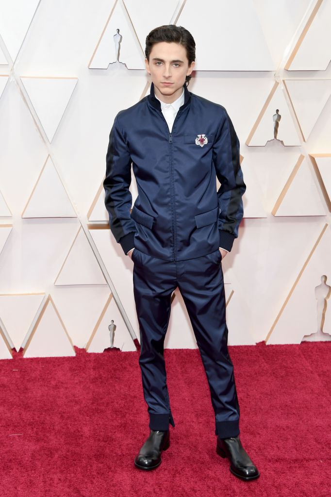 Timothée Chalamet attends the 92nd Annual Academy Awards at Hollywood and Highland on February 09, 2020 in Hollywood, California. (Photo by Kevin Mazur/Getty Images)