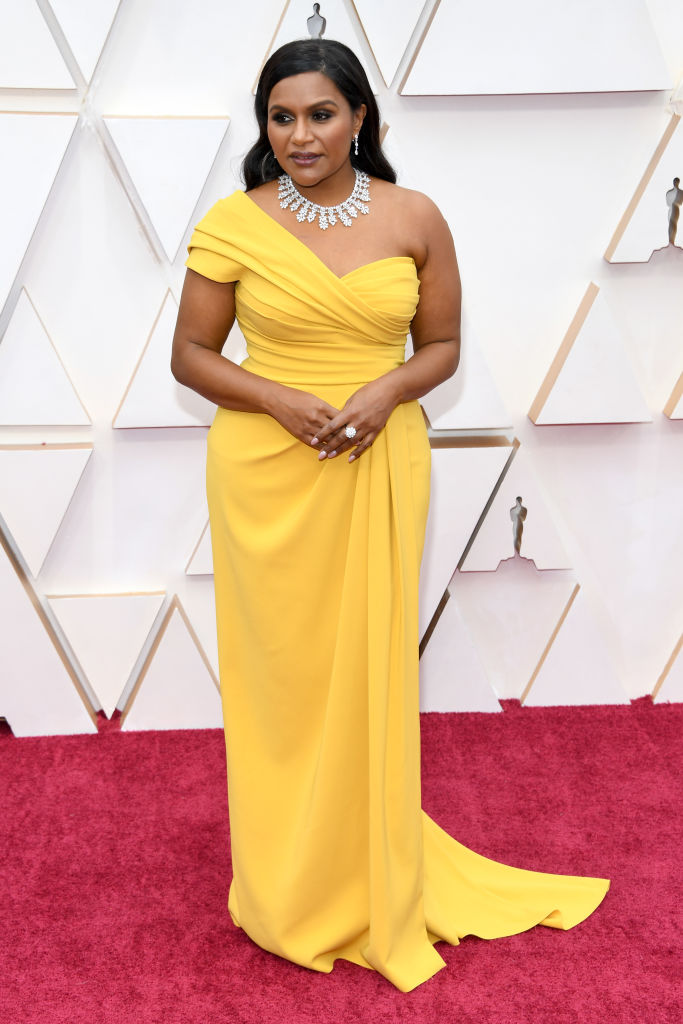 Mindy Kaling attends the 92nd Annual Academy Awards at Hollywood and Highland on February 09, 2020 in Hollywood, California. (Photo by Kevin Mazur/Getty Images)