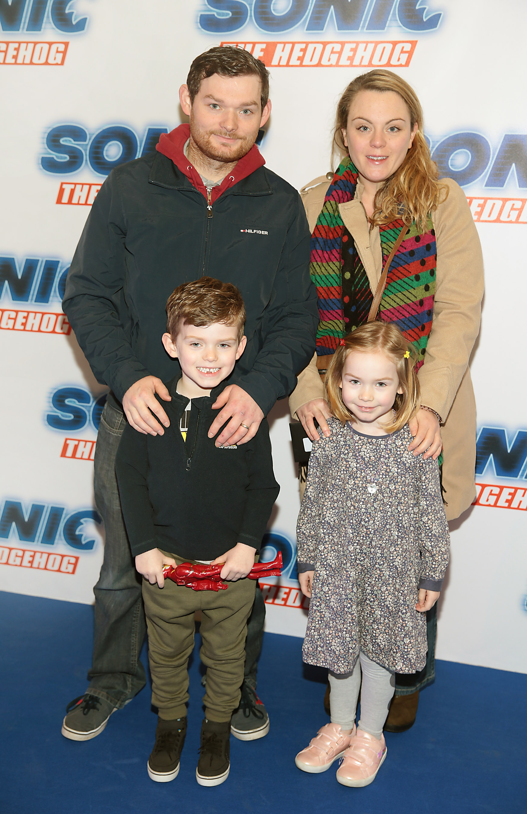 Eric Mahon, Aisling Mahon, Scott Mahon and Hannah Mahon at the special preview screening of Sonic the Hedgehog Movie at the Odeon Cinema in Point Square, Dublin. Pic: Brian McEvoy