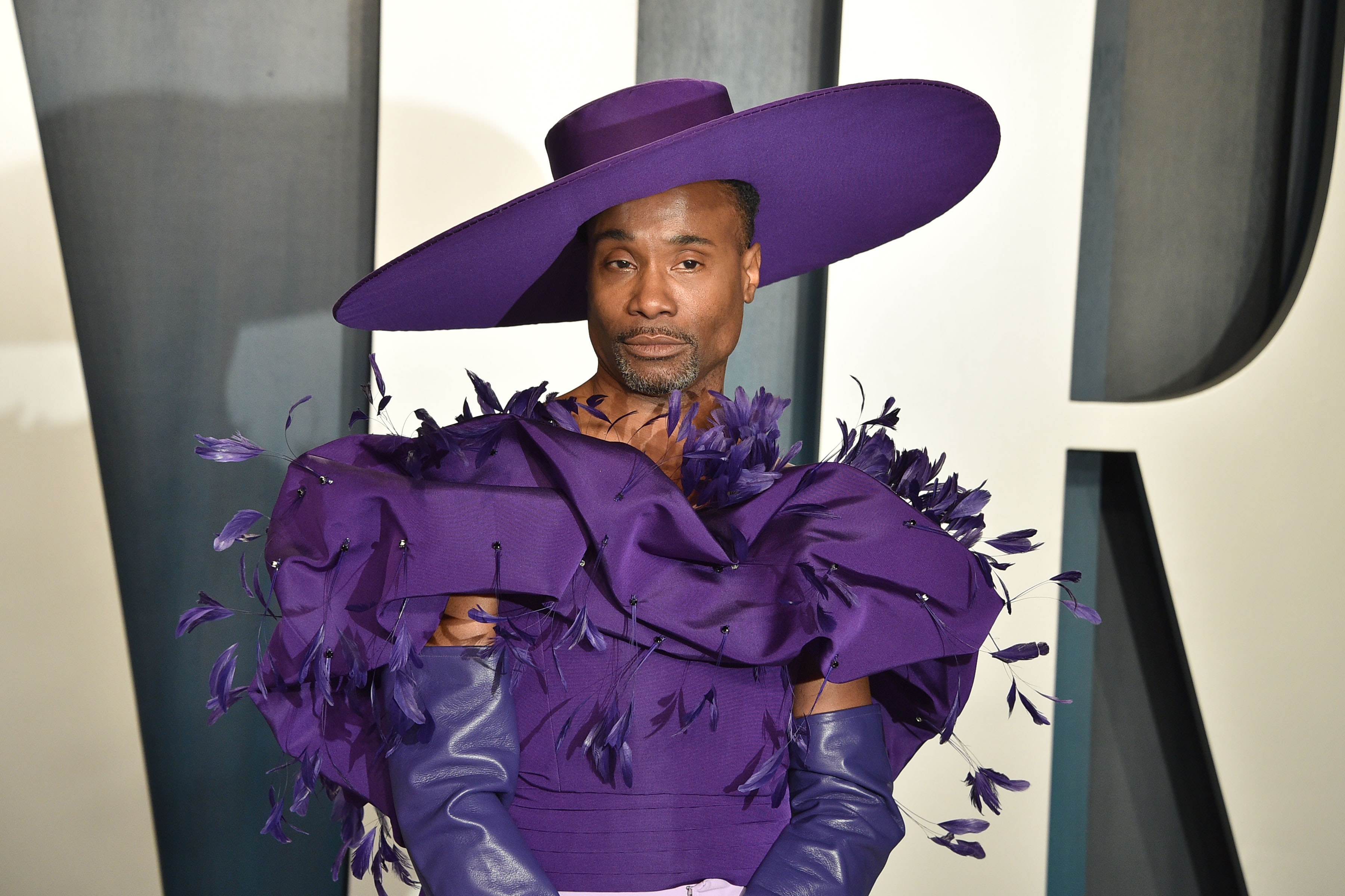 Billy Porter attends the 2020 Vanity Fair Oscar Party at Wallis Annenberg Center for the Performing Arts on February 09, 2020 in Beverly Hills, California. (Photo by David Crotty/Patrick McMullan via Getty Images)