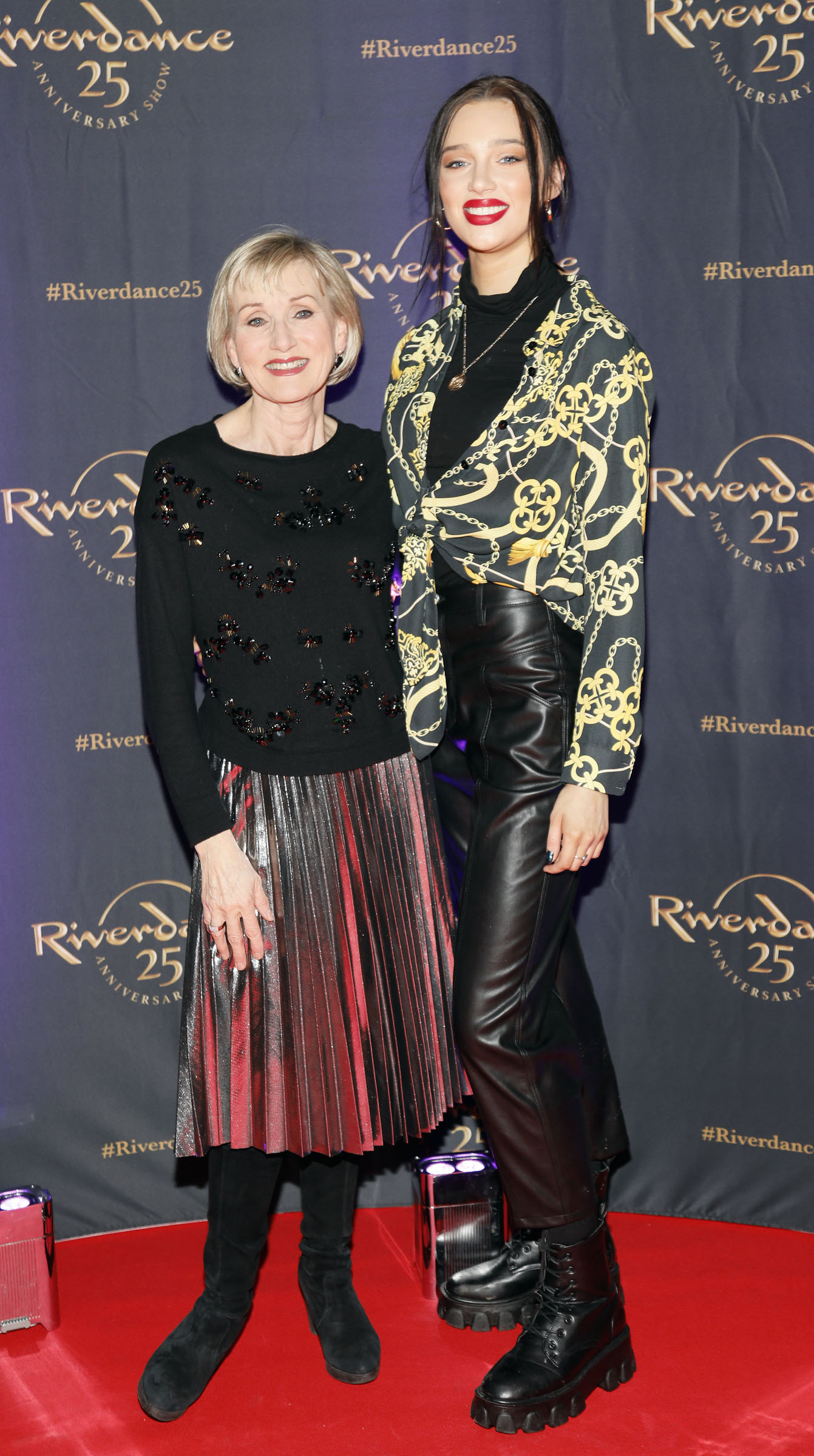 Annie Gribbin and Niamh McCormack at the historic gala performance of Riverdance 25th Anniversary show at 3Arena Dublin exactly 25 years to the day that Riverdance was first performed at the Point Depot.  Photo: Kieran Harnett