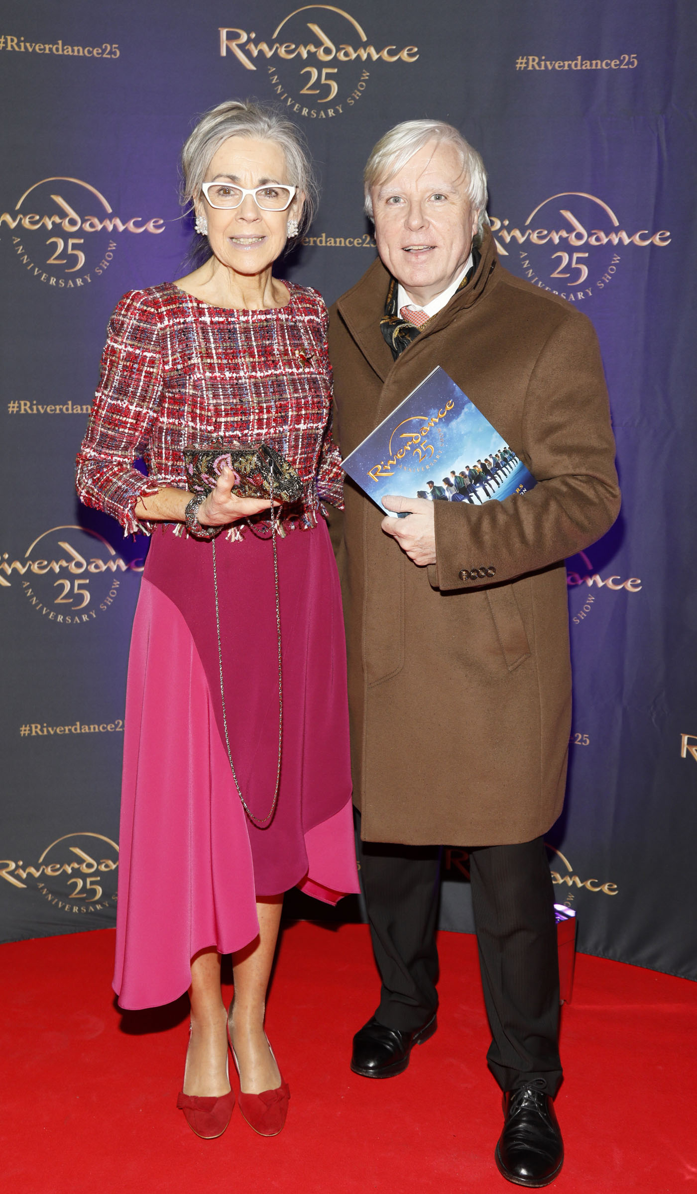 Elizabeth O'Mahony and Francis Brennan at the historic gala performance of Riverdance 25th Anniversary show at 3Arena Dublin exactly 25 years to the day that Riverdance was first performed at the Point Depot.  Photo: Kieran Harnett