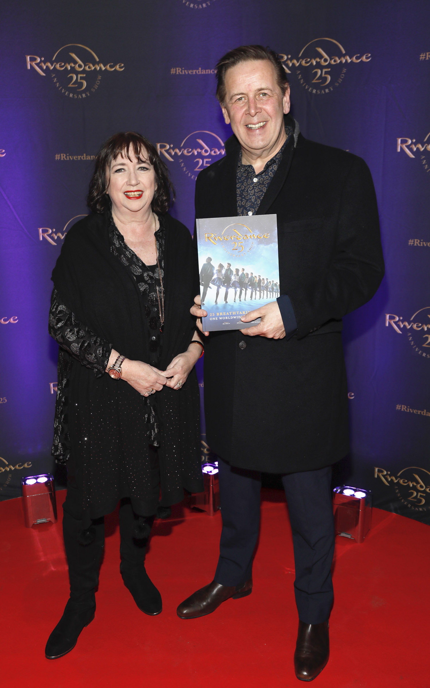 Ger and Ian Dempsey at the historic gala performance of Riverdance 25th Anniversary show at 3Arena Dublin exactly 25 years to the day that Riverdance was first performed at the Point Depot.  Photo: Kieran Harnett