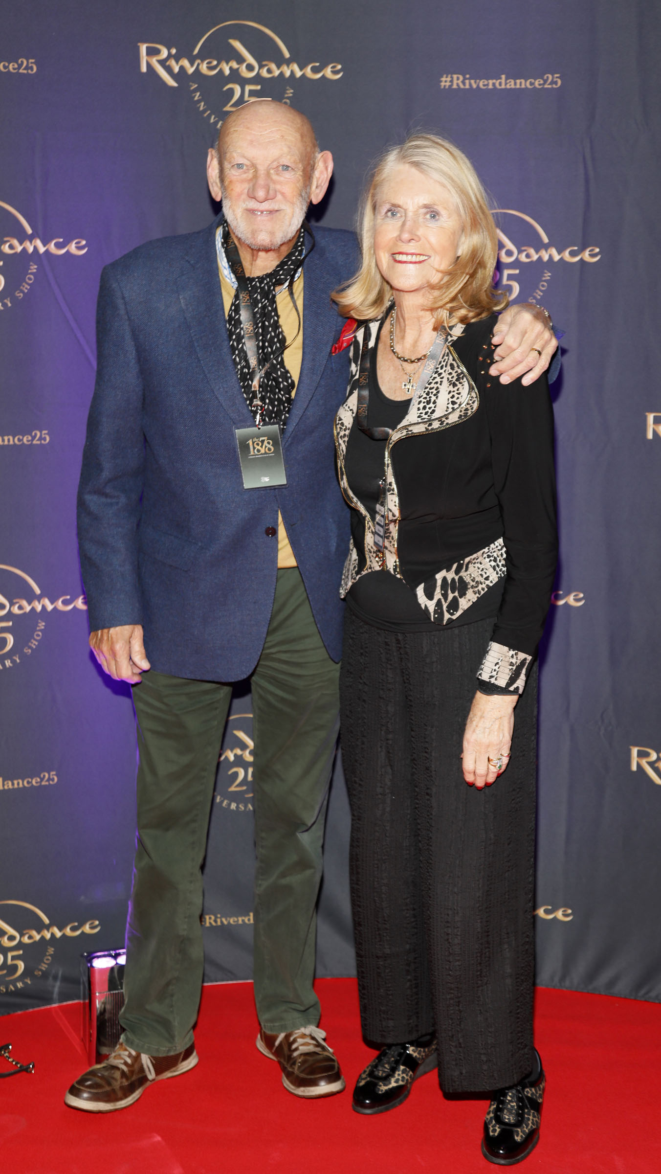 Helen and Paddy Cole at the historic gala performance of Riverdance 25th Anniversary show at 3Arena Dublin exactly 25 years to the day that Riverdance was first performed at the Point Depot.  Photo: Kieran Harnett