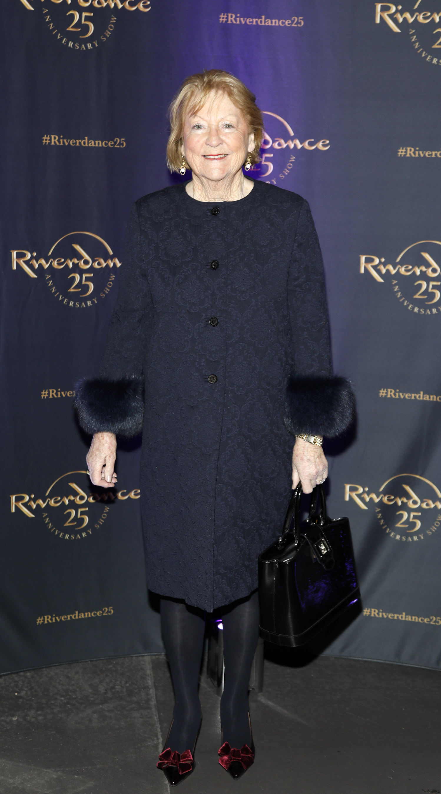 Kathleen Watkins at the historic gala performance of Riverdance 25th Anniversary show at 3Arena Dublin exactly 25 years to the day that Riverdance was first performed at the Point Depot.  Photo: Kieran Harnett