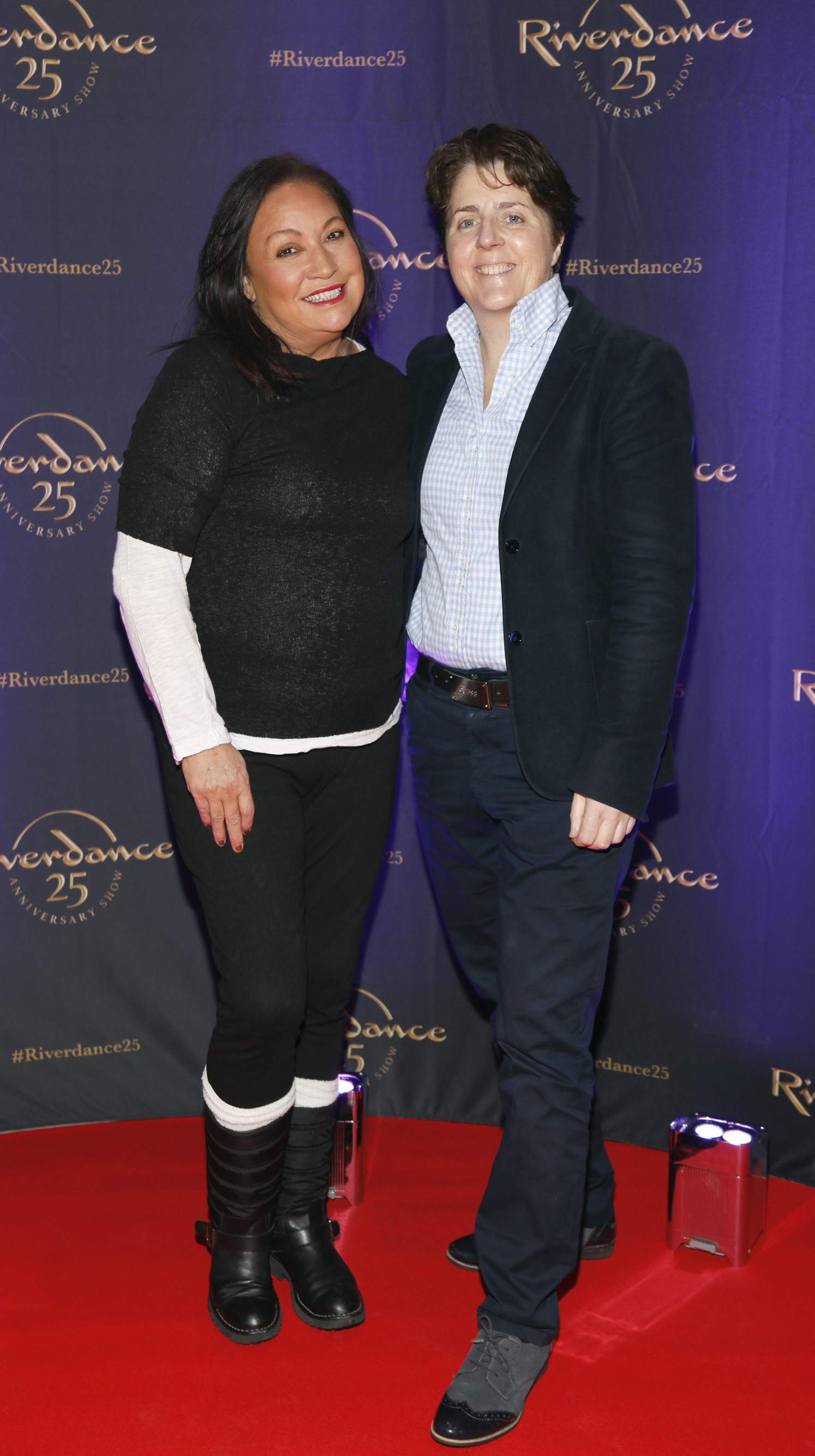 Norah Casey and Val Quinn at the historic gala performance of Riverdance 25th Anniversary show at 3Arena Dublin exactly 25 years to the day that Riverdance was first performed at the Point Depot.  Photo: Kieran Harnett