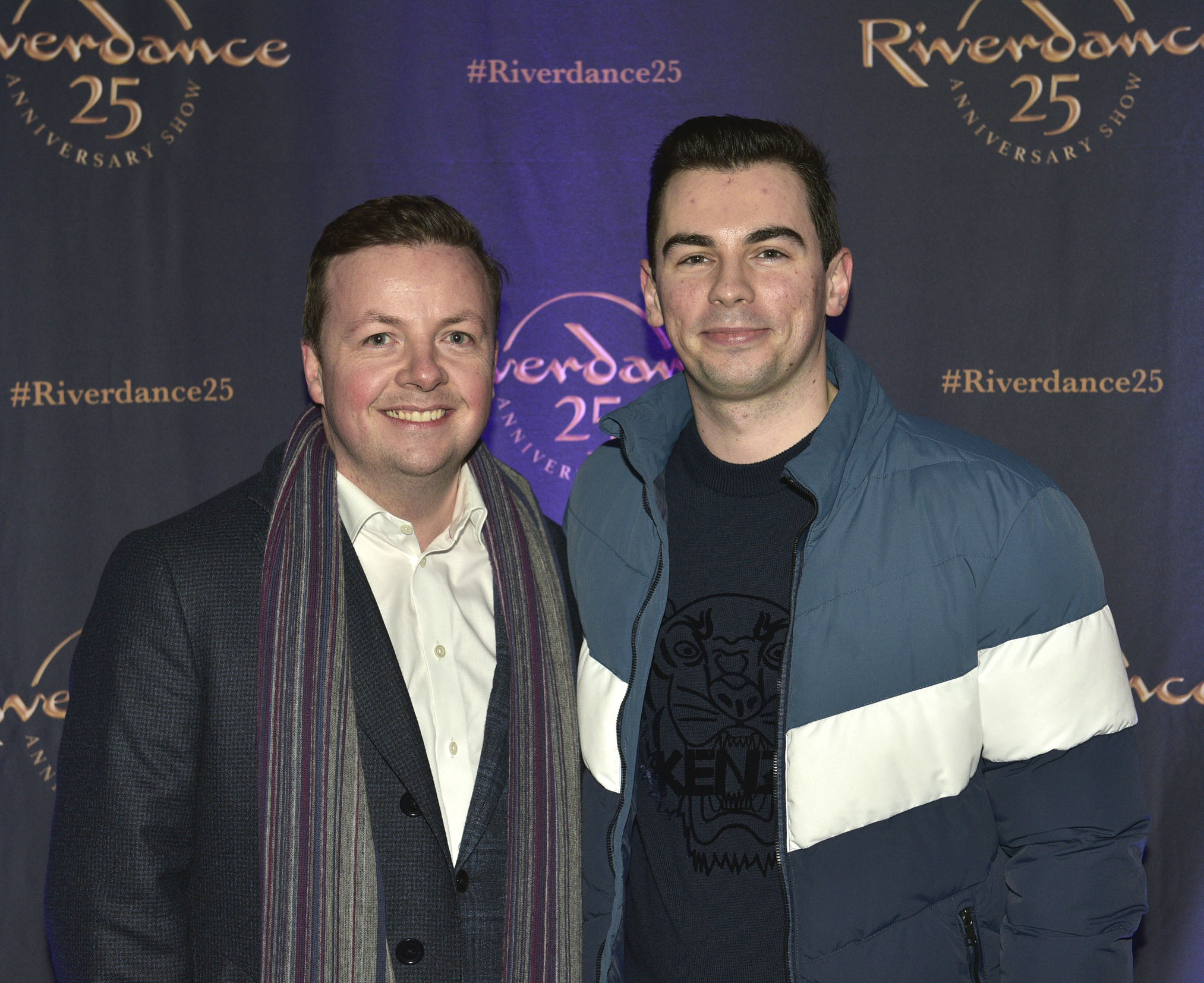 Oliver Callen & John Lannin at the historic gala performance of Riverdance 25th Anniversary show at 3Arena Dublin exactly 25 years to the day that Riverdance was first performed at the Point Depot.  Photo: Kieran Harnett
