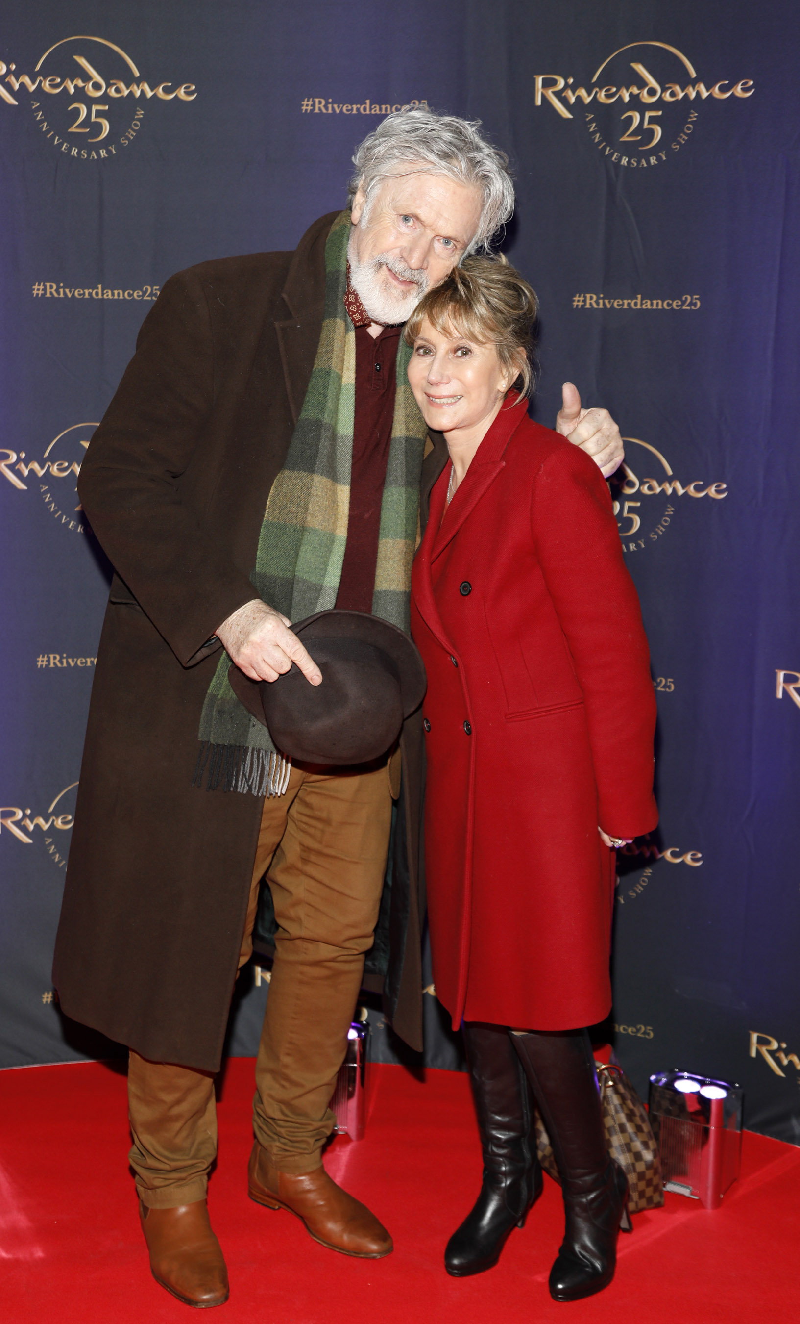 Patrick Bergin and Helen Goldin at the historic gala performance of Riverdance 25th Anniversary show at 3Arena Dublin exactly 25 years to the day that Riverdance was first performed at the Point Depot.  Photo: Kieran Harnett
