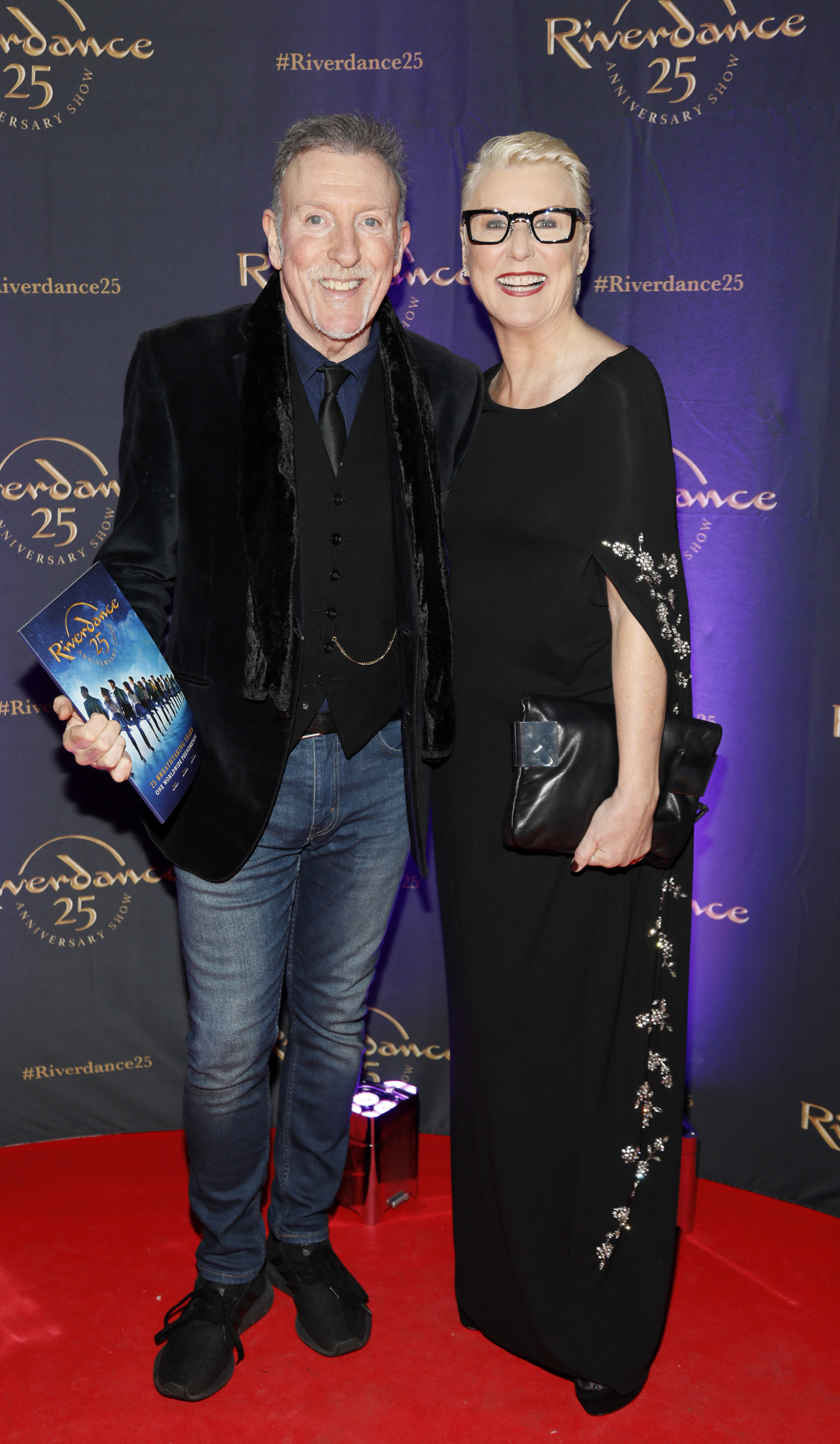 Paul Harrington and Moya Doherty at the historic gala performance of Riverdance 25th Anniversary show at 3Arena Dublin exactly 25 years to the day that Riverdance was first performed at the Point Depot.  Photo: Kieran Harnett