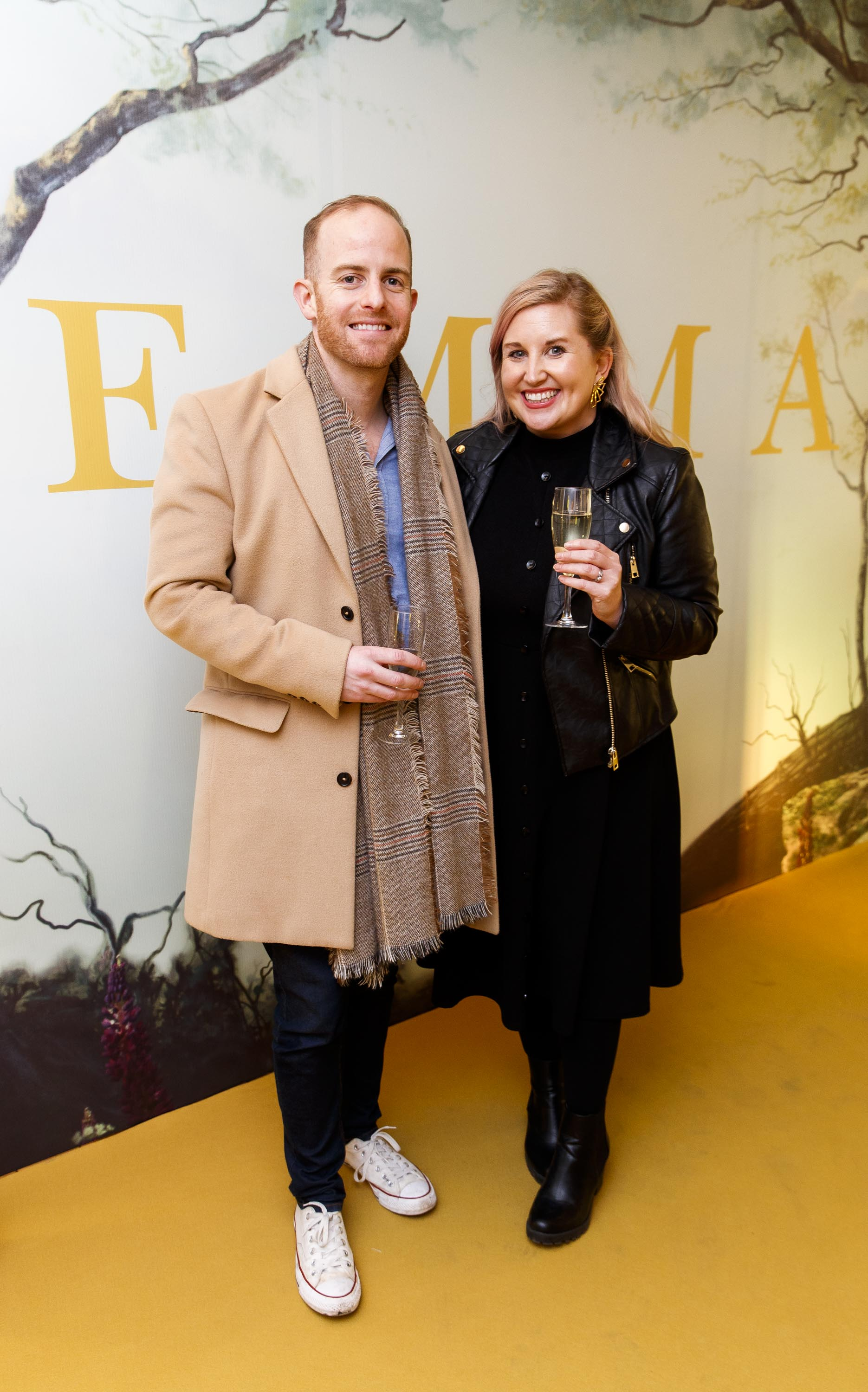 Brendan O'Loughlan and Kate Olohan pictured at a special preview screening of EMMA, a delicious new adaptation of Jane Austen's beloved comedy, at Light House Cinema, Dublin Picture Andres Poveda