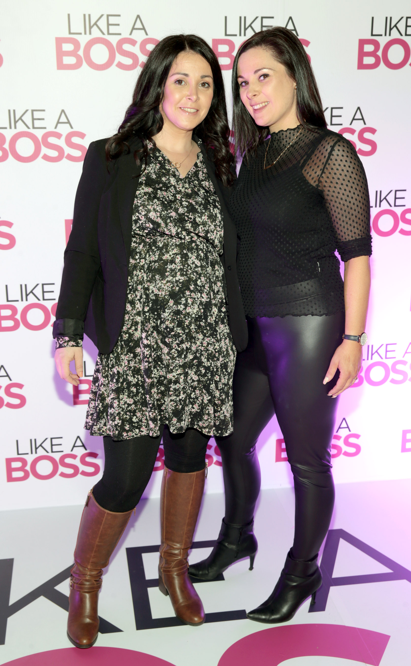 Ciara O'Leary and Niamh O'Leary at the special preview screening of Like A Boss at the Lighthouse Cinema, Dublin. Pic: Brian McEvoy