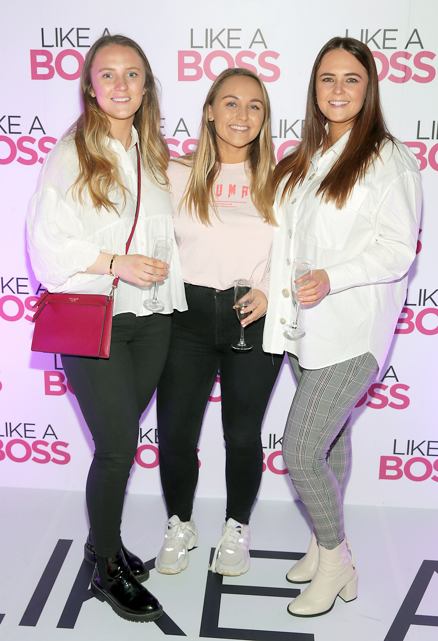Aisling Keogh, Dervla Keogh and Eimear Keogh at the special preview screening of Like A Boss at the Lighthouse Cinema, Dublin. Pic: Brian McEvoy