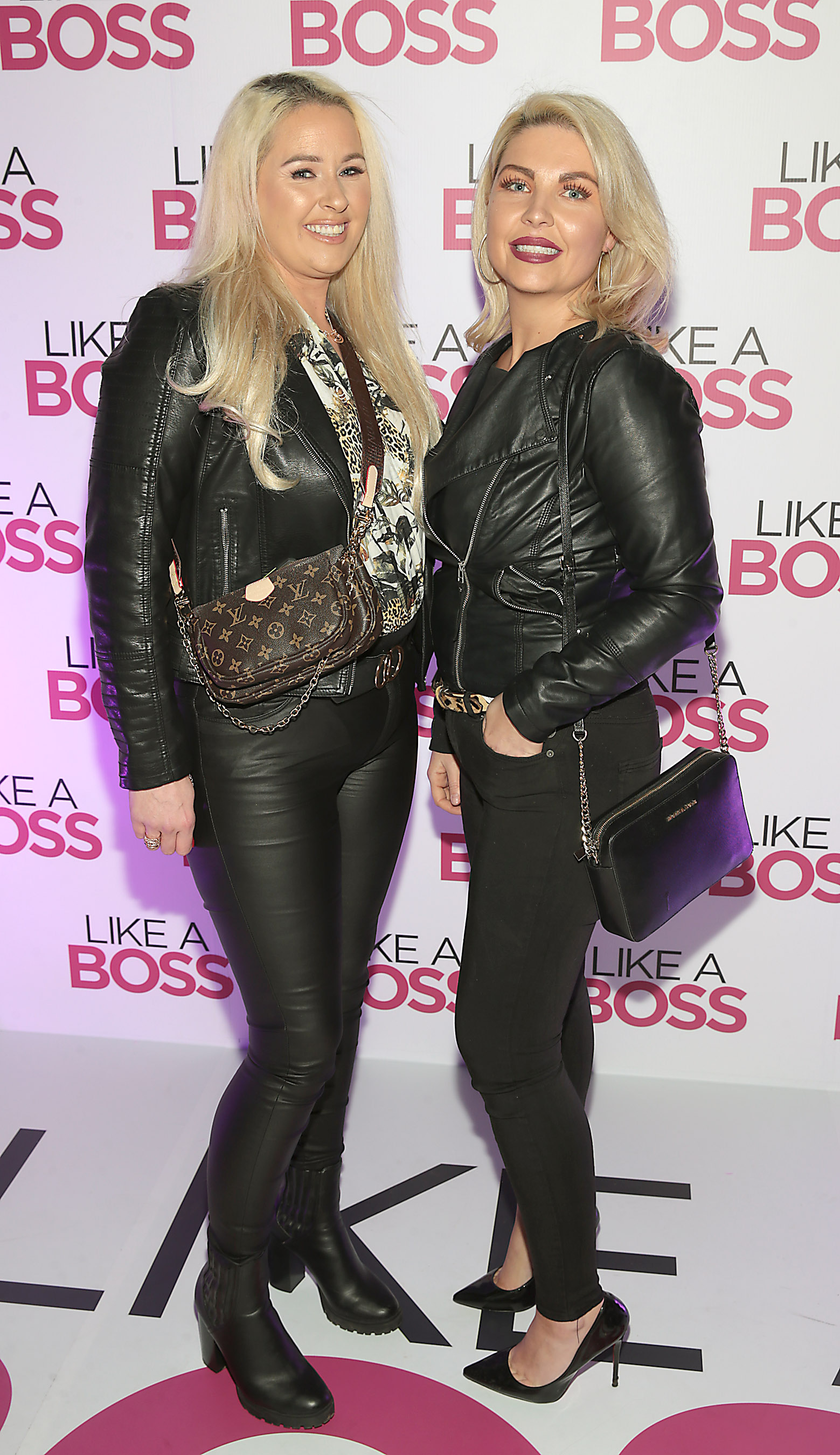 Tammy Daly and  Niamh Kenna at the special preview screening of Like A Boss at the Lighthouse Cinema, Dublin. Pic: Brian McEvoy