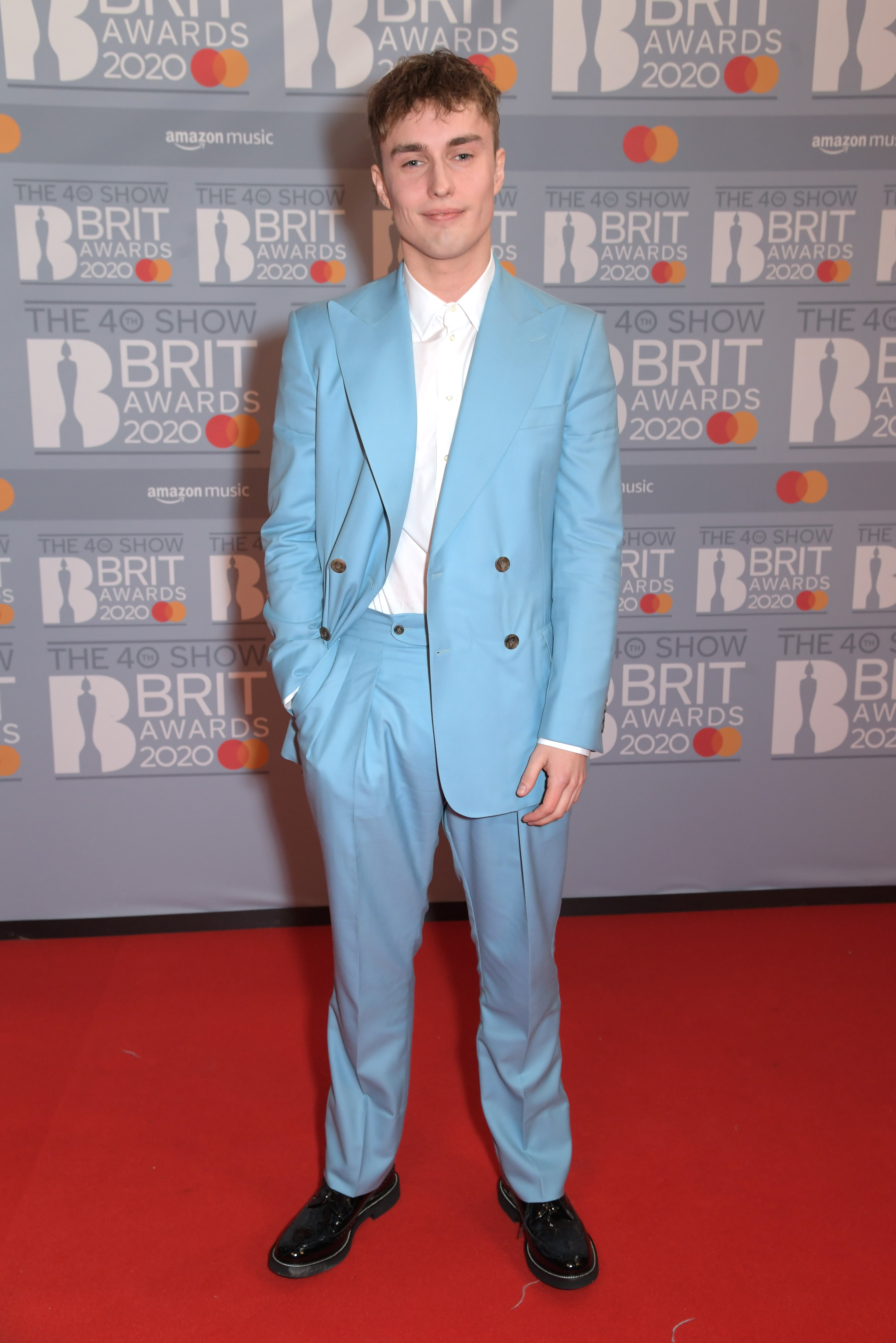 Sam Fender attends The BRIT Awards 2020 at The O2 Arena on February 18, 2020 in London, England.  (Photo by David M. Benett/Dave Benett/Getty Images)