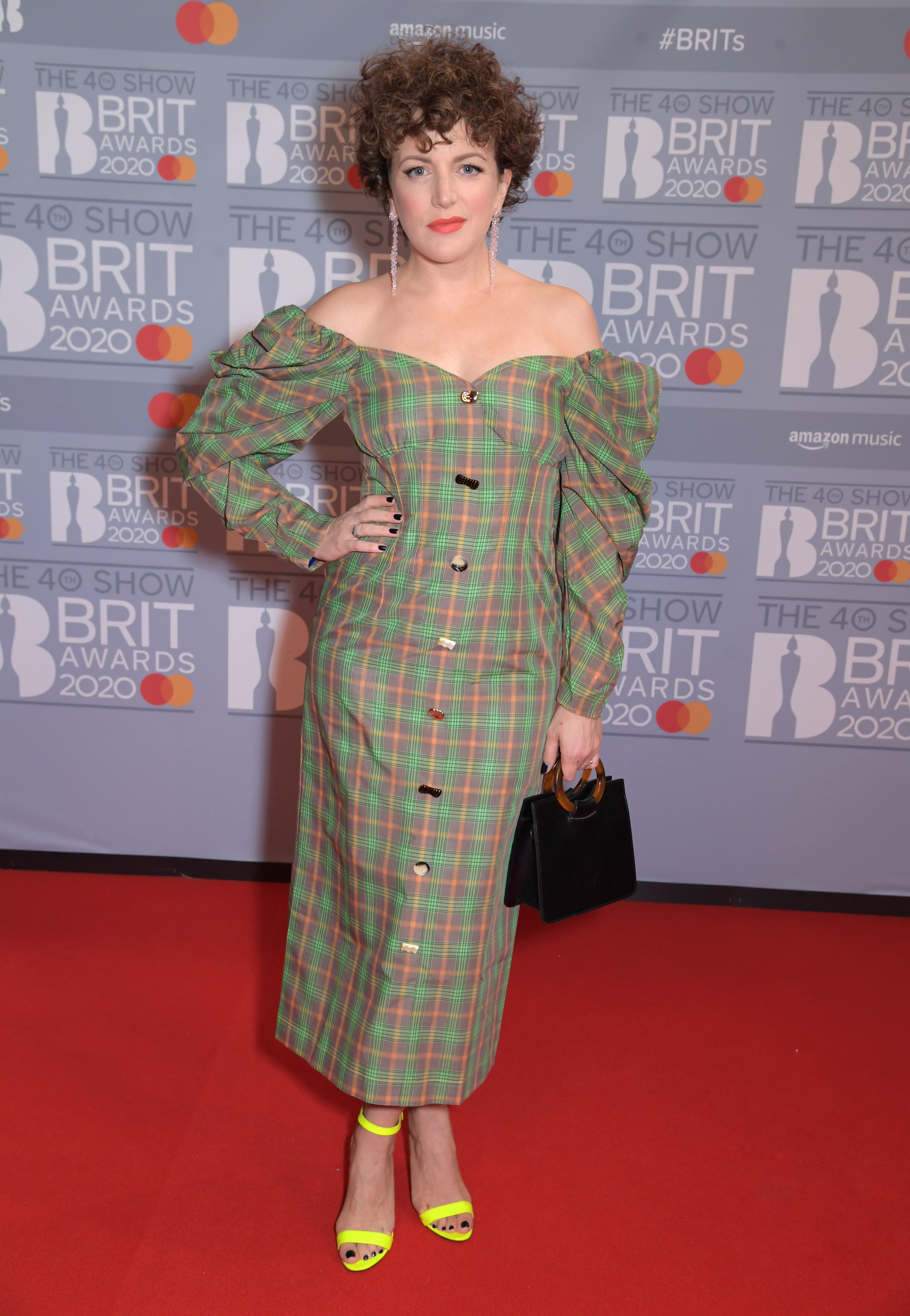 Annie Mac attends The BRIT Awards 2020 at The O2 Arena on February 18, 2020 in London, England.  (Photo by David M. Benett/Dave Benett/Getty Images)