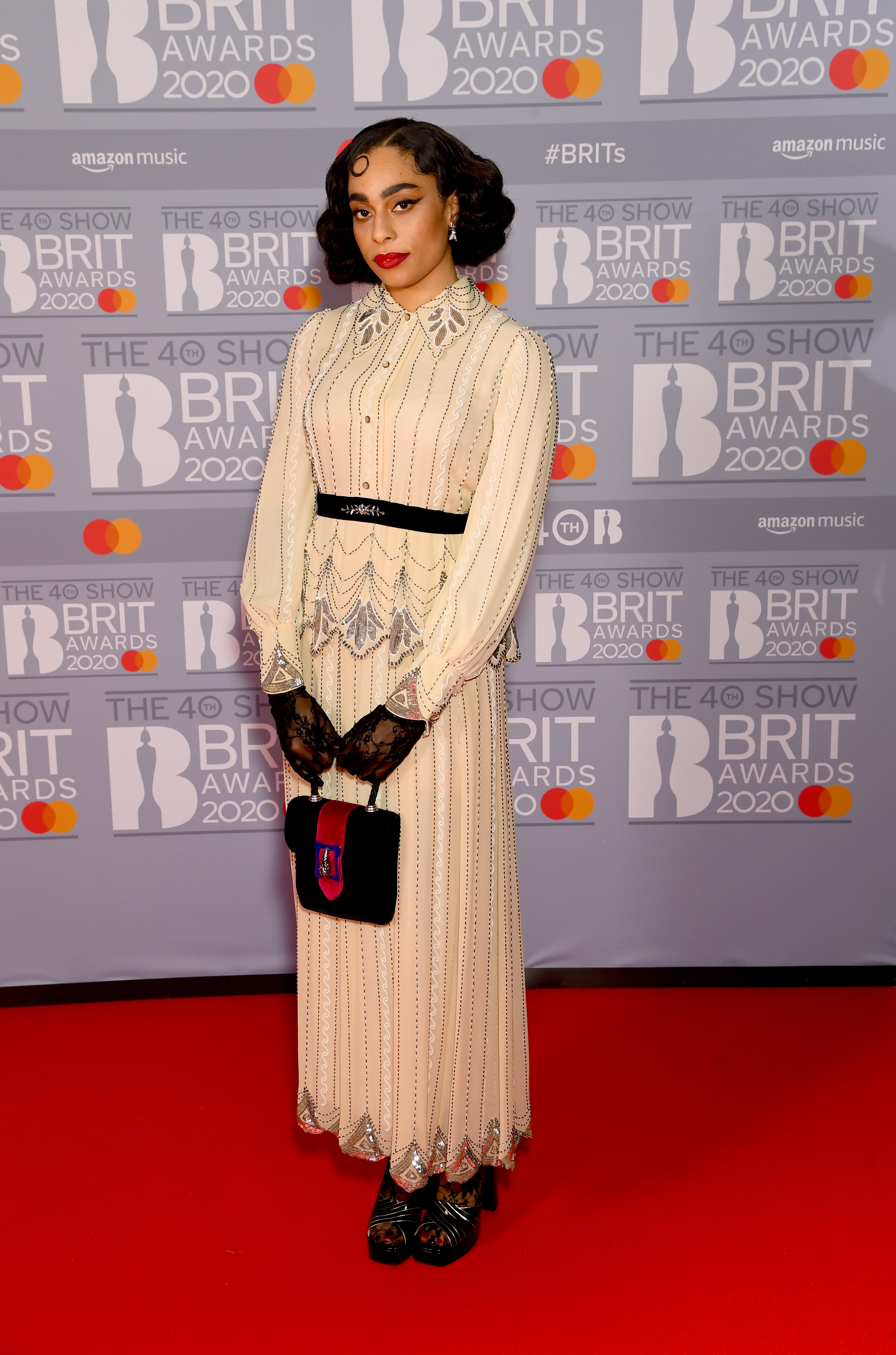 Celeste attends The BRIT Awards 2020 at The O2 Arena on February 18, 2020 in London, England. (Photo by Dave J Hogan/Getty Images)