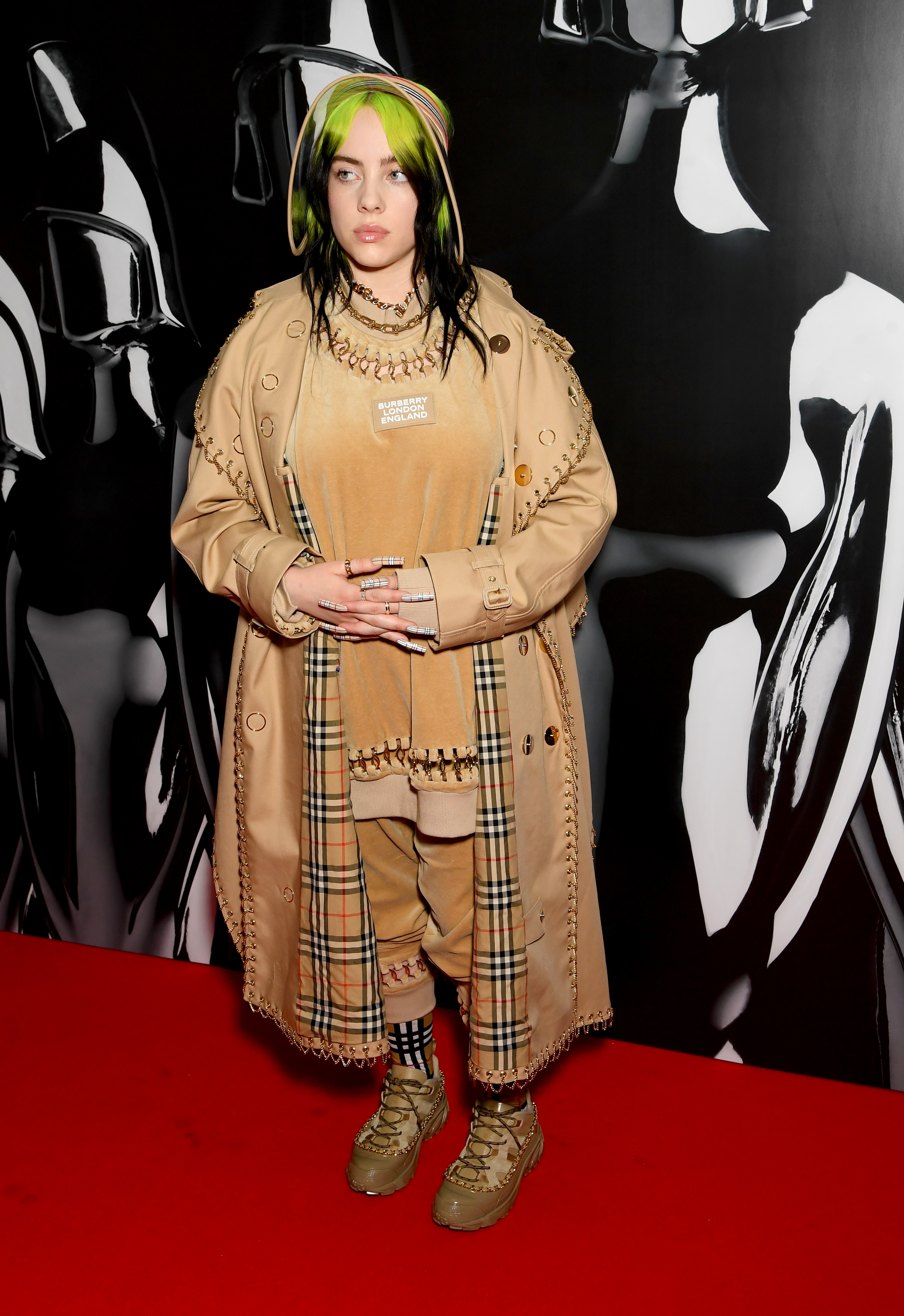 Billie Eilish attends The BRIT Awards 2020 at The O2 Arena on February 18, 2020 in London, England. (Photo by Dave J Hogan/Getty Images)