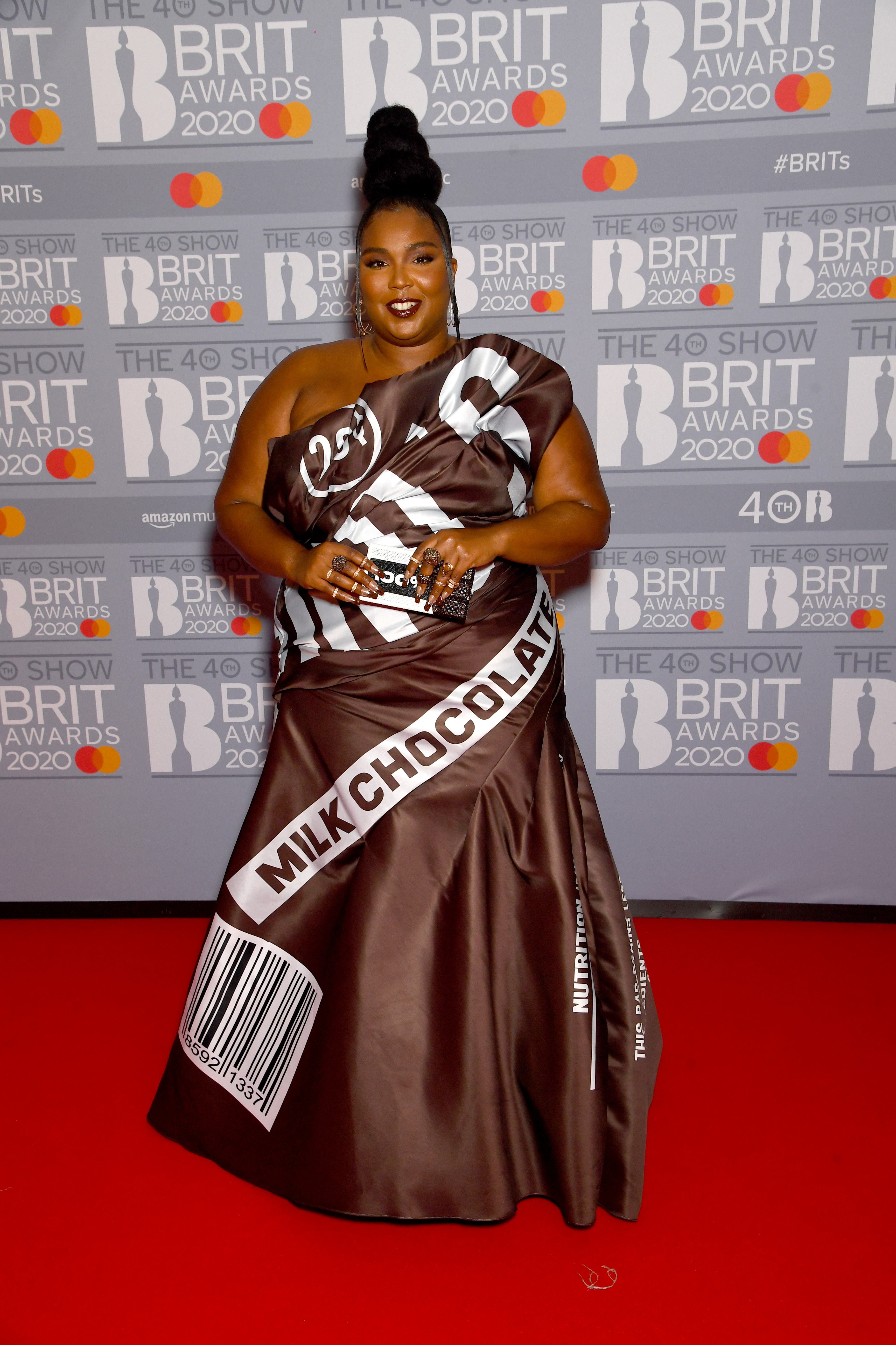 Lizzo attends The BRIT Awards 2020 at The O2 Arena on February 18, 2020 in London, England. (Photo by Dave J Hogan/Getty Images)