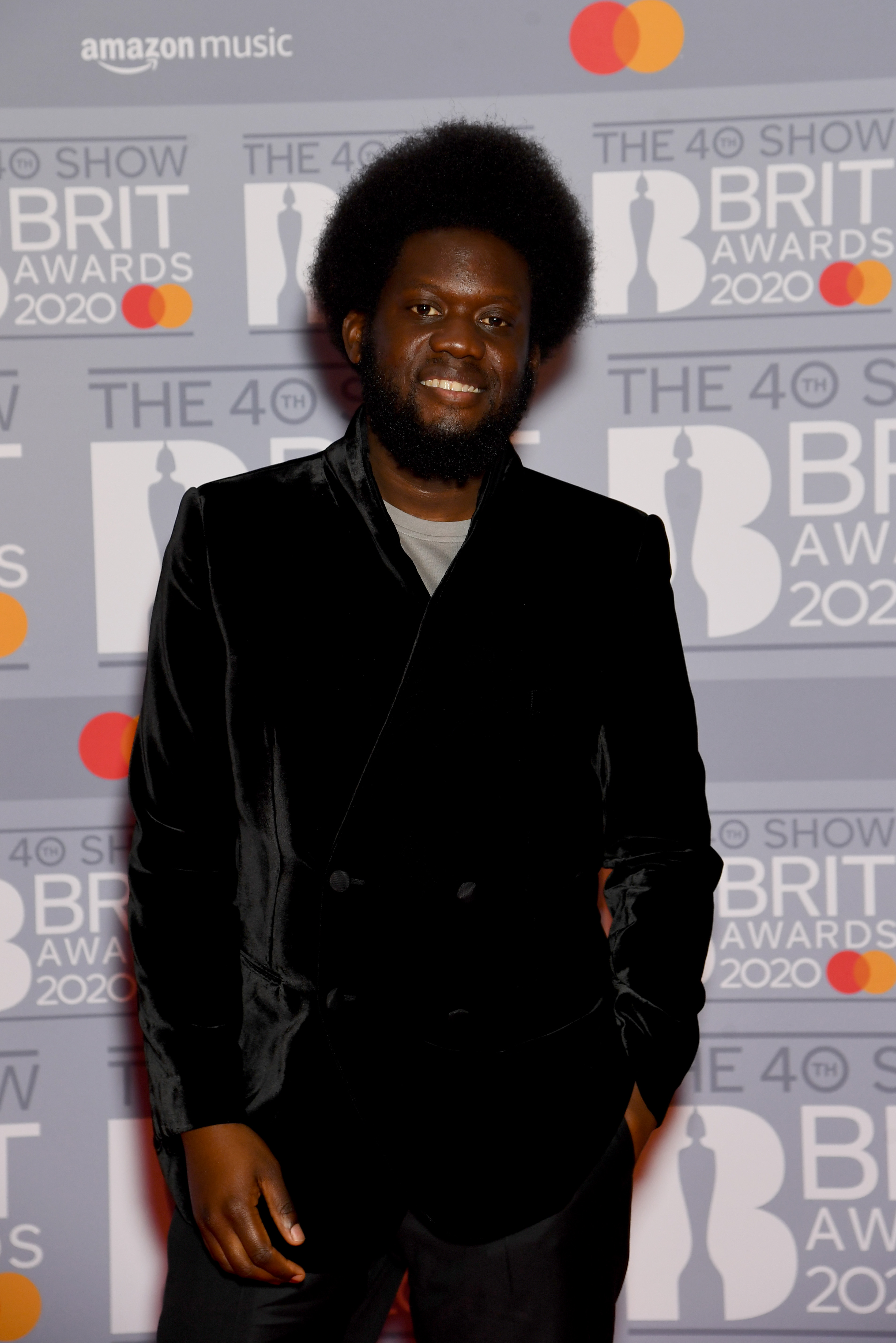 Michael Kiwanuka attends The BRIT Awards 2020 at The O2 Arena on February 18, 2020 in London, England. (Photo by Dave J Hogan/Getty Images)
