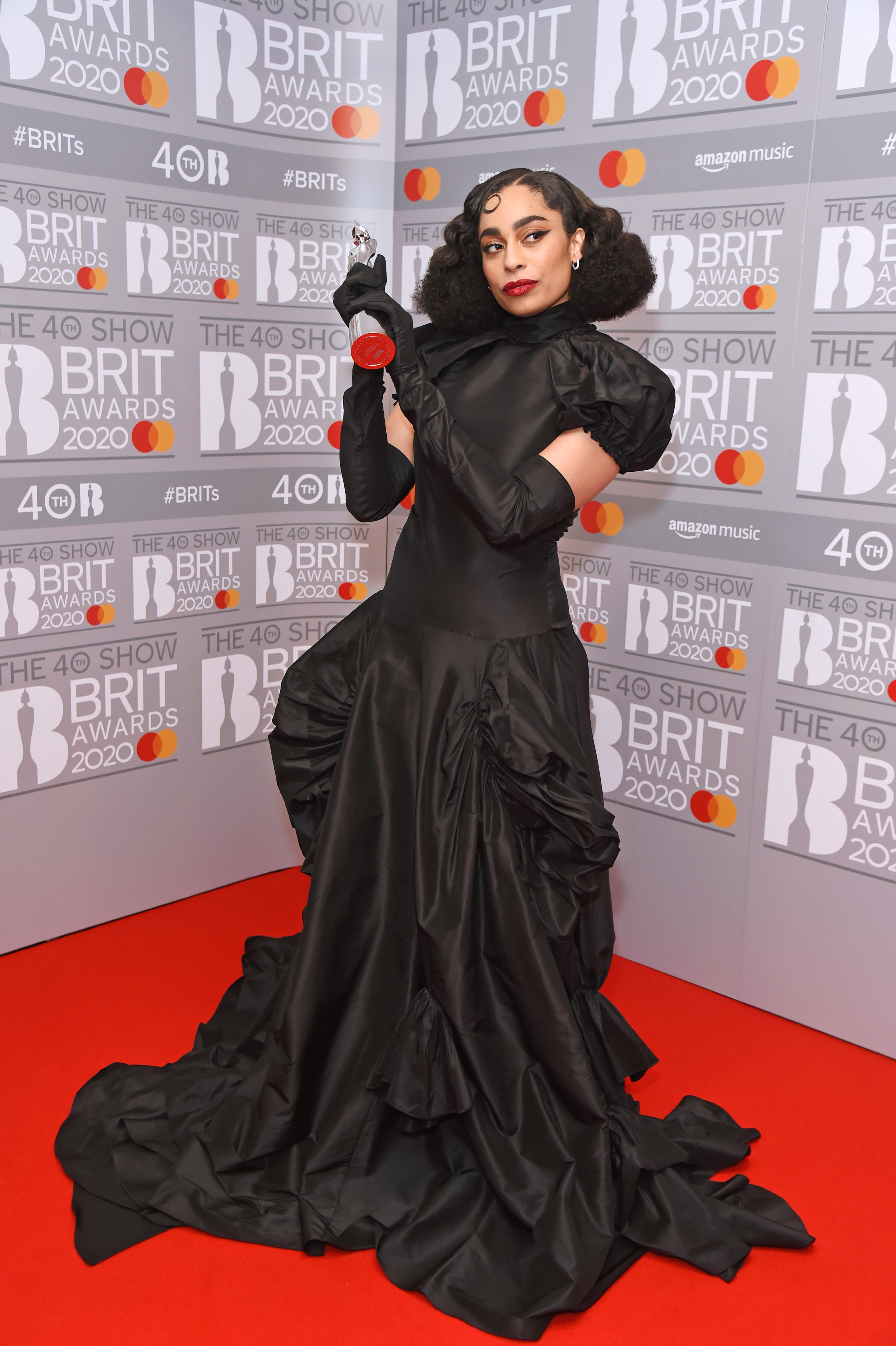 Celeste, winner of the Rising Star award, poses in the winners room at The BRIT Awards 2020 at The O2 Arena on February 18, 2020 in London, England.  (Photo by David M. Benett/Dave Benett/Getty Images)