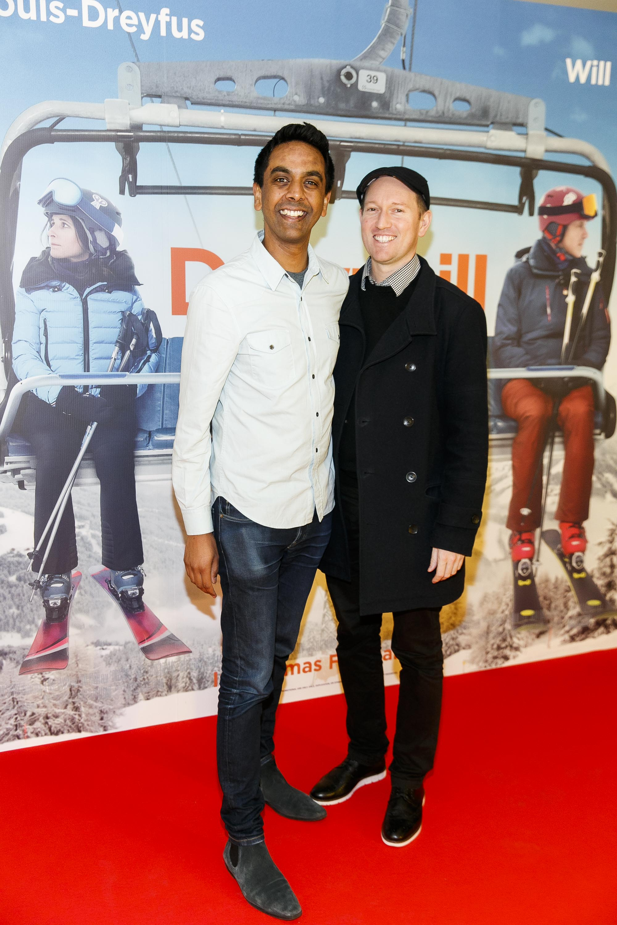 Clint Driberg and David Mitchell pictured at a special preview screening of Downhill at the Light House Cinema, Dublin. Picture: Andres Poveda.