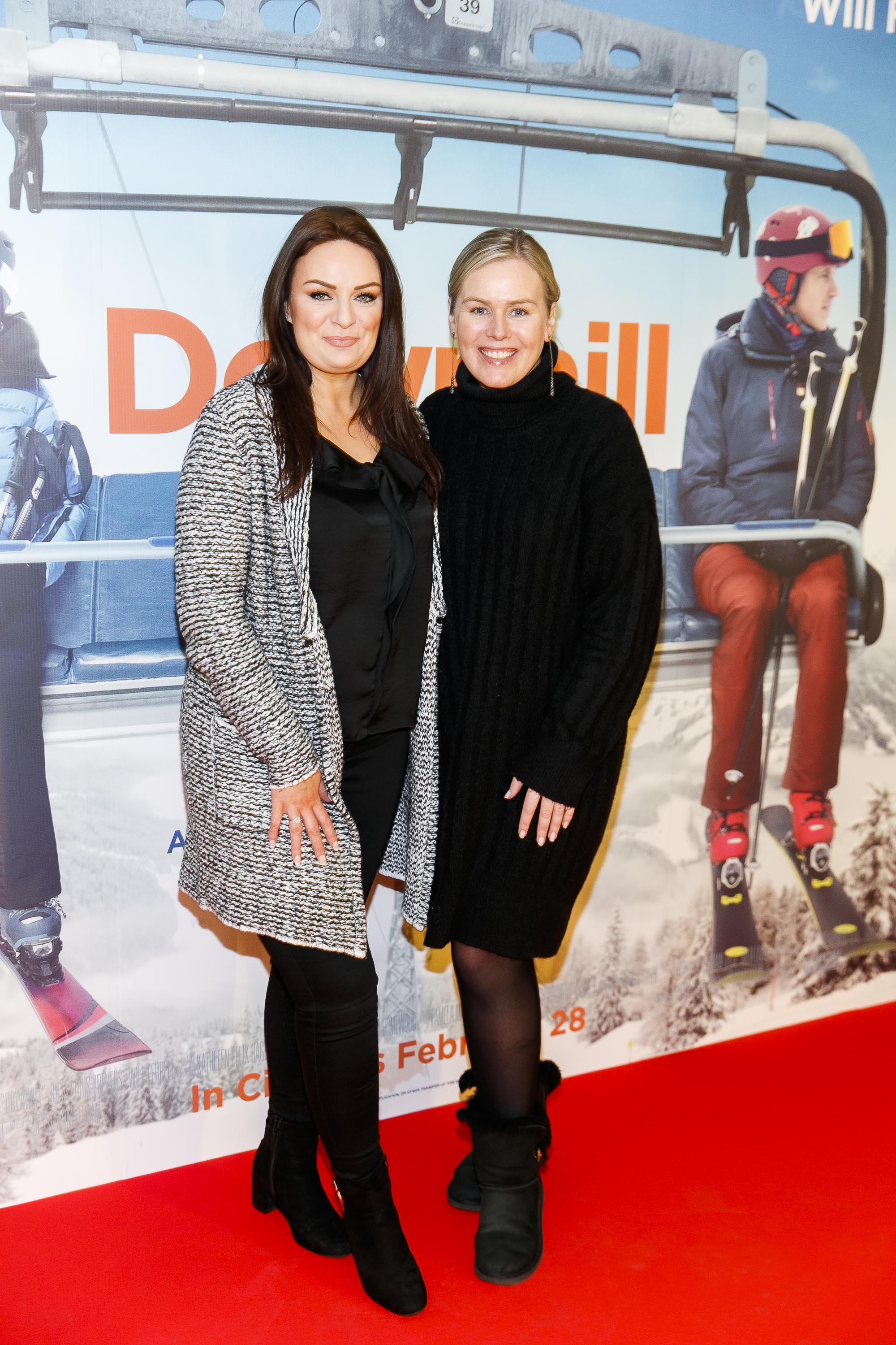 Ciara McCahey and Caitriona O'Connor pictured at a special preview screening of Downhill at the Light House Cinema, Dublin. Picture: Andres Poveda.
