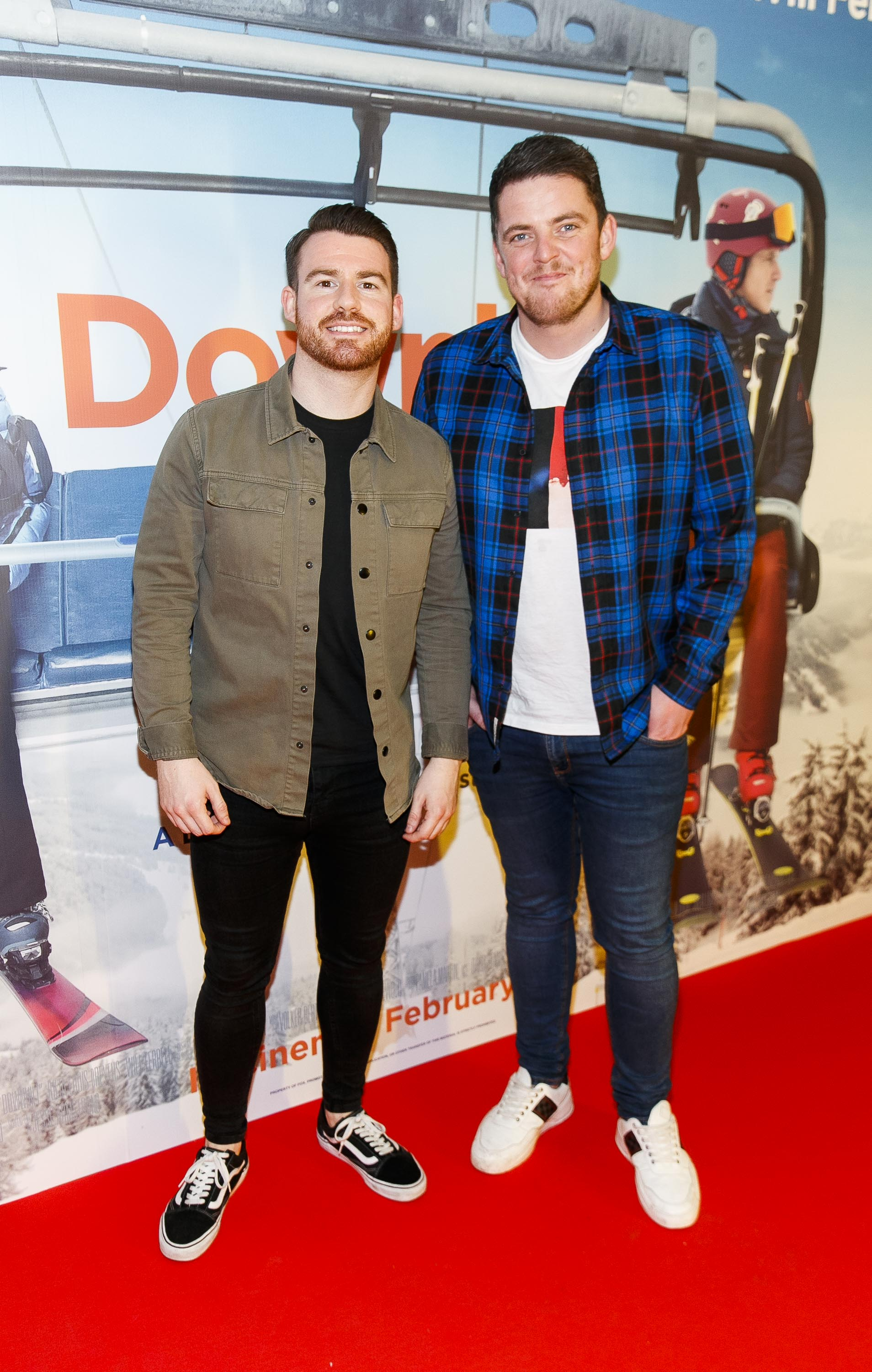 Brian Fitzmorris and Will O'Brien pictured at a special preview screening of Downhill at the Light House Cinema, Dublin. Picture: Andres Poveda.