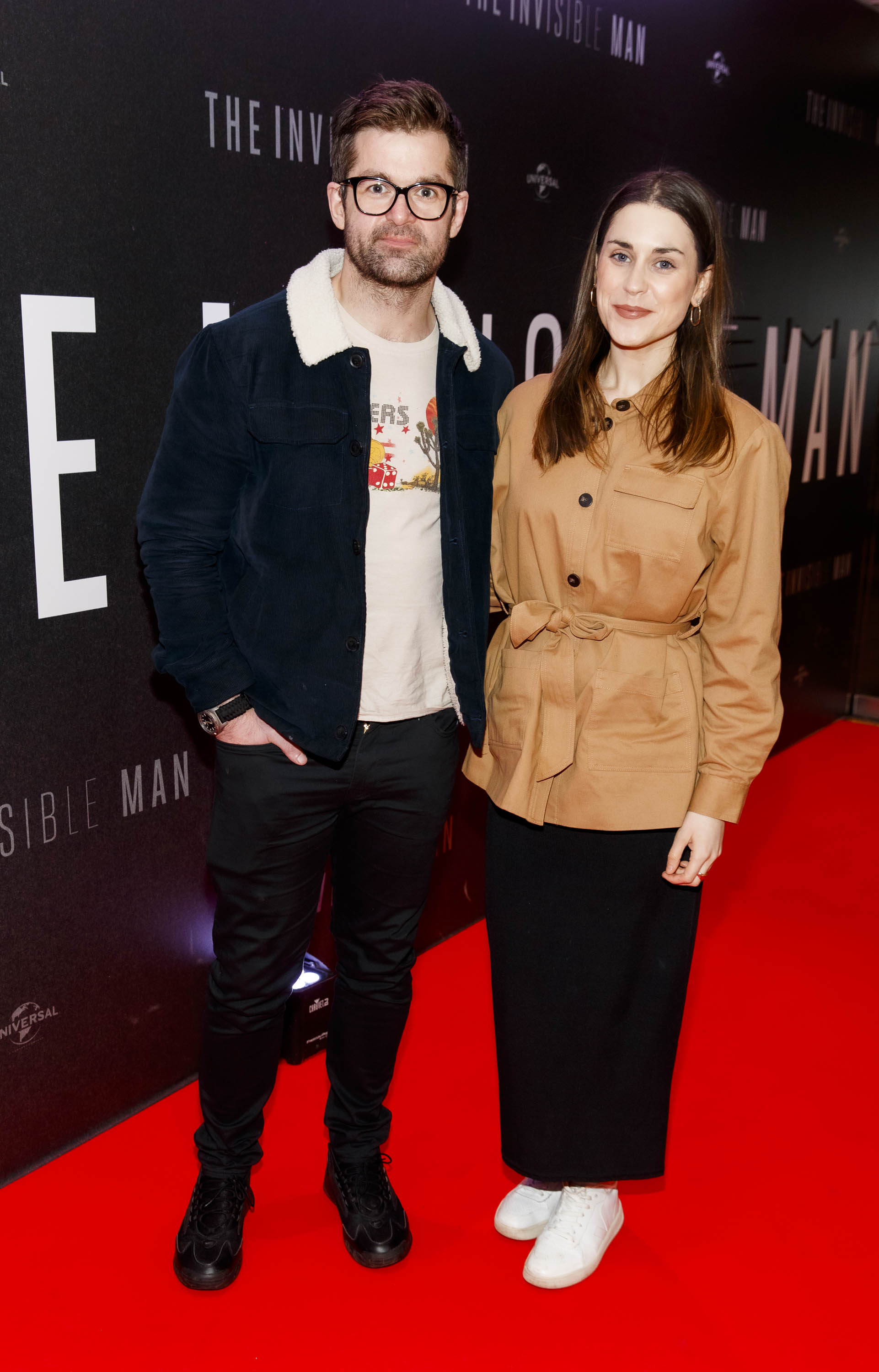 Mike Sheridan and Jo Linihan pictured at a special preview screening of The Invisible Man at Light House Cinema, Dublin. Picture: Andres Poveda.