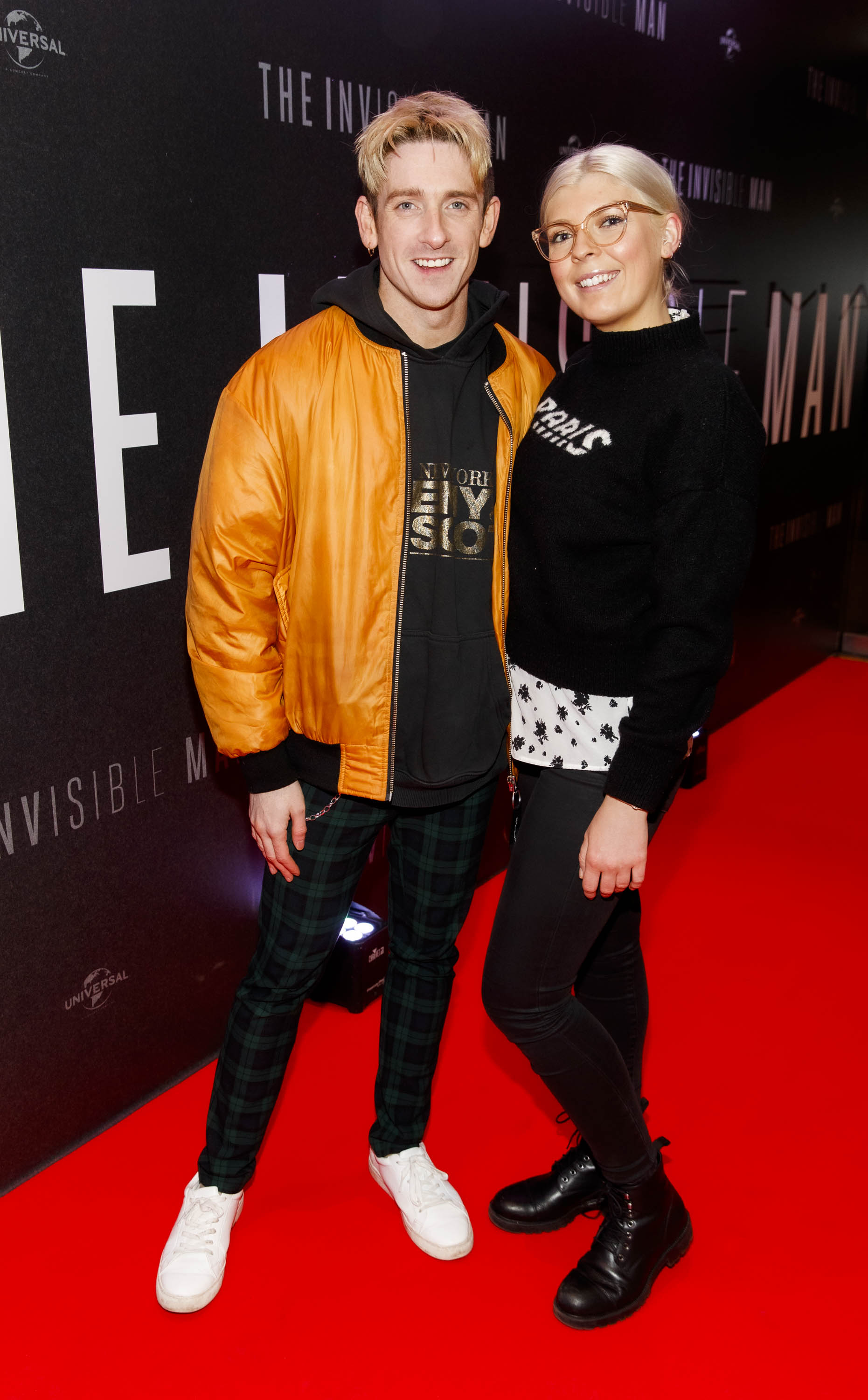 Stephen Byrne and Claudia Langford pictured at a special preview screening of The Invisible Man at Light House Cinema, Dublin. Picture: Andres Poveda.