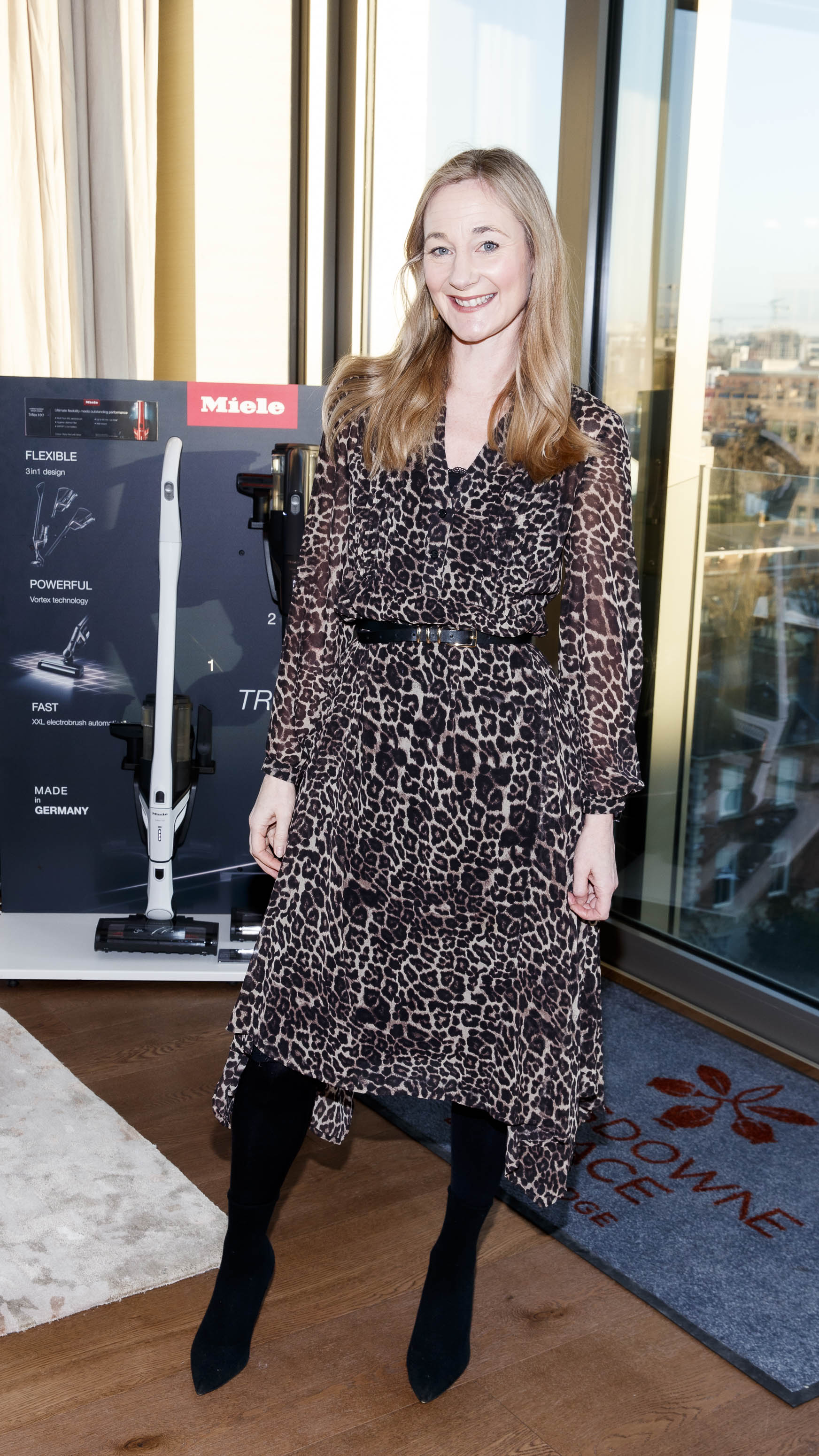 Ciara Elliott pictured at the launch of Miele Triflex. The world's leading manufacturer of cylinder vacuum cleaners, Miele, unveiled its first ever cordless handstick model at the stunning Landsdowne Place penthouse. Hosted by Miele managing director, Pat McGrath and in conversation with Dermot Bannon and Ciara Elliott, guests experienced the ultimate cordless vacuum cleaner, which is available in all major retailers from €499. Picture Andres Poveda