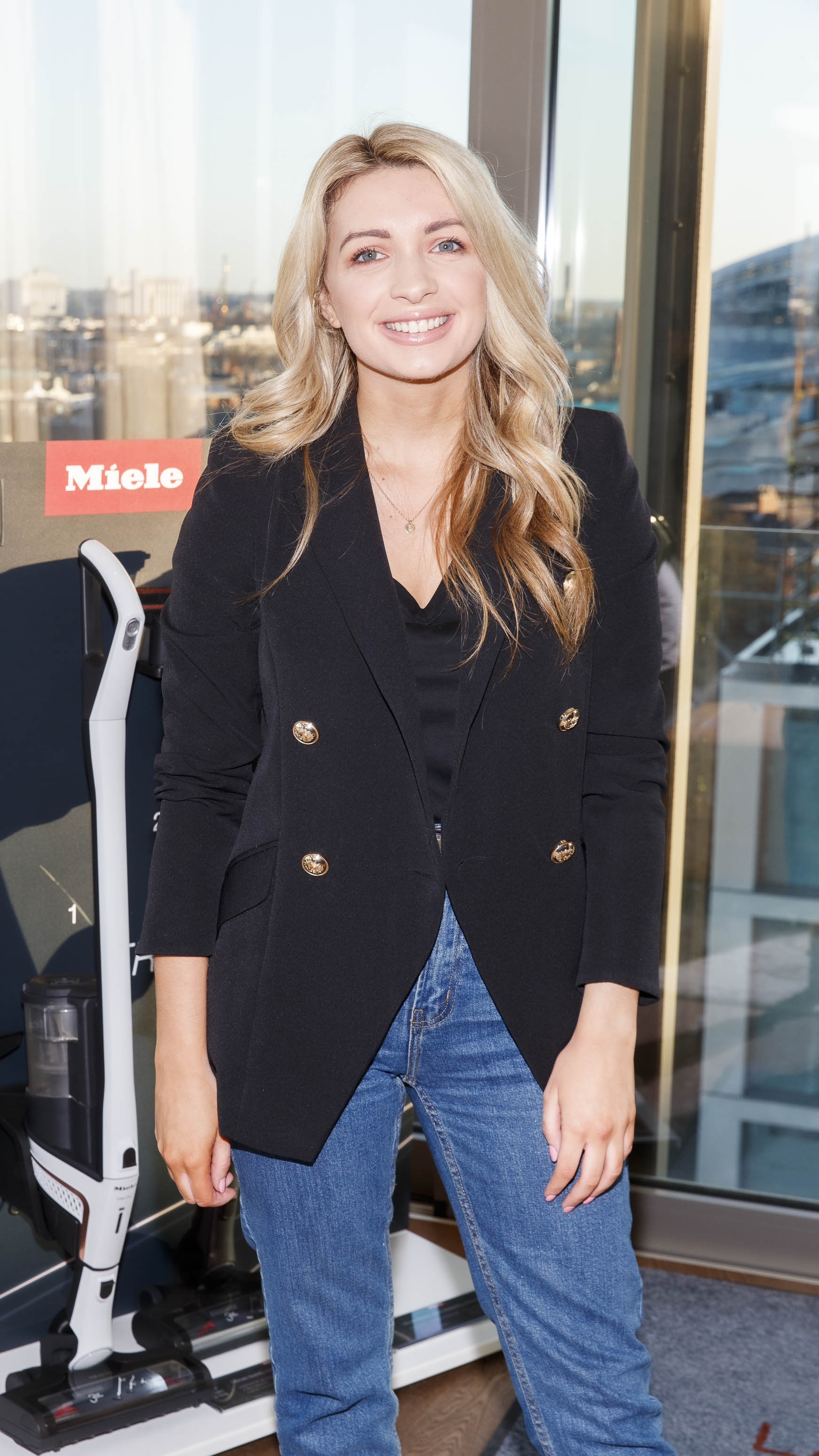 Laura Bergin pictured at the launch of Miele Triflex. The world's leading manufacturer of cylinder vacuum cleaners, Miele, unveiled its first ever cordless handstick model at the stunning Landsdowne Place penthouse. Hosted by Miele managing director, Pat McGrath and in conversation with Dermot Bannon and Ciara Elliott, guests experienced the ultimate cordless vacuum cleaner, which is available in all major retailers from €499. Picture Andres Poveda