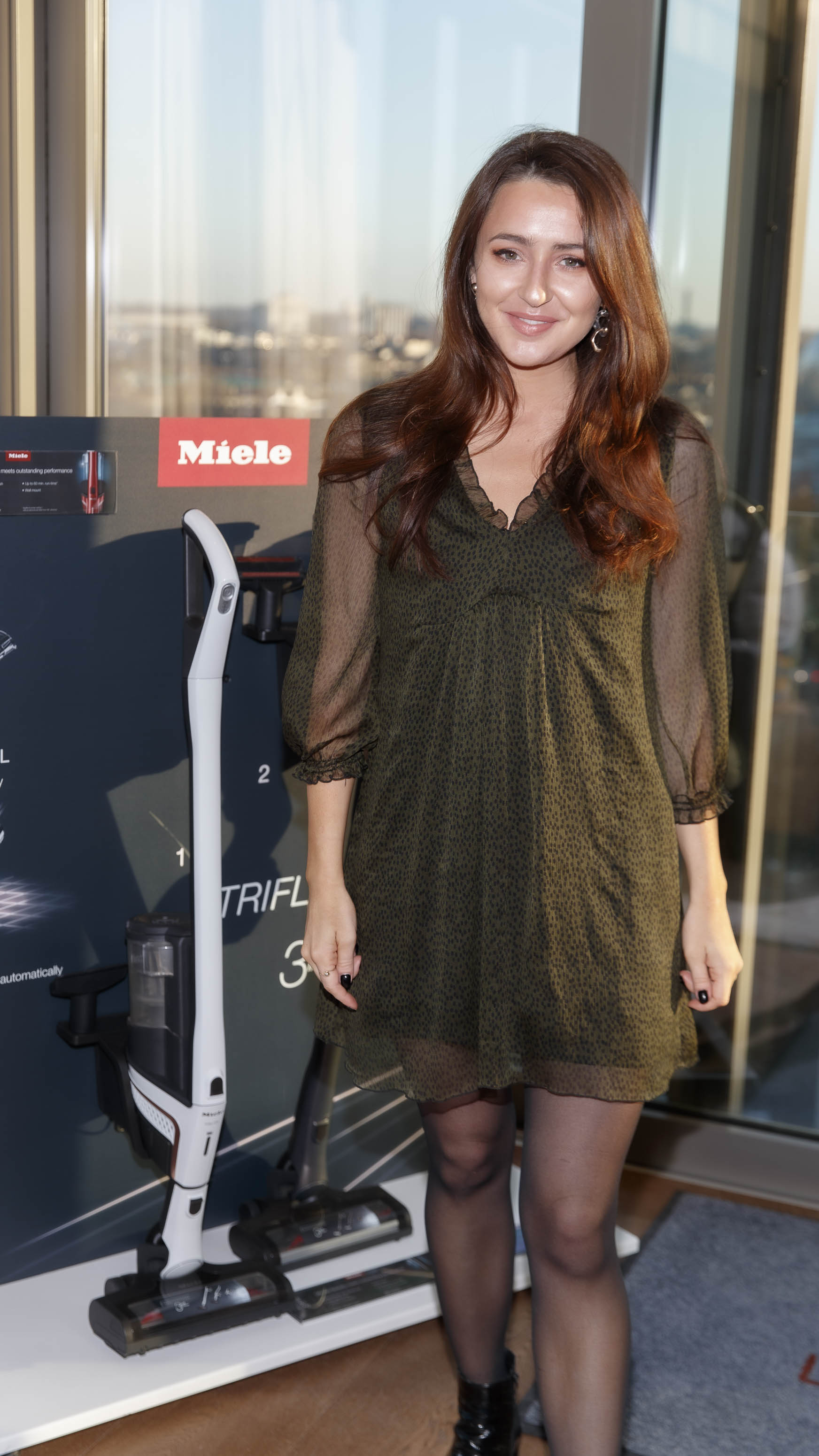 Rachel Kellegher pictured at the launch of Miele Triflex. The world's leading manufacturer of cylinder vacuum cleaners, Miele, unveiled its first ever cordless handstick model at the stunning Landsdowne Place penthouse. Hosted by Miele managing director, Pat McGrath and in conversation with Dermot Bannon and Ciara Elliott, guests experienced the ultimate cordless vacuum cleaner, which is available in all major retailers from €499. Picture Andres Poveda