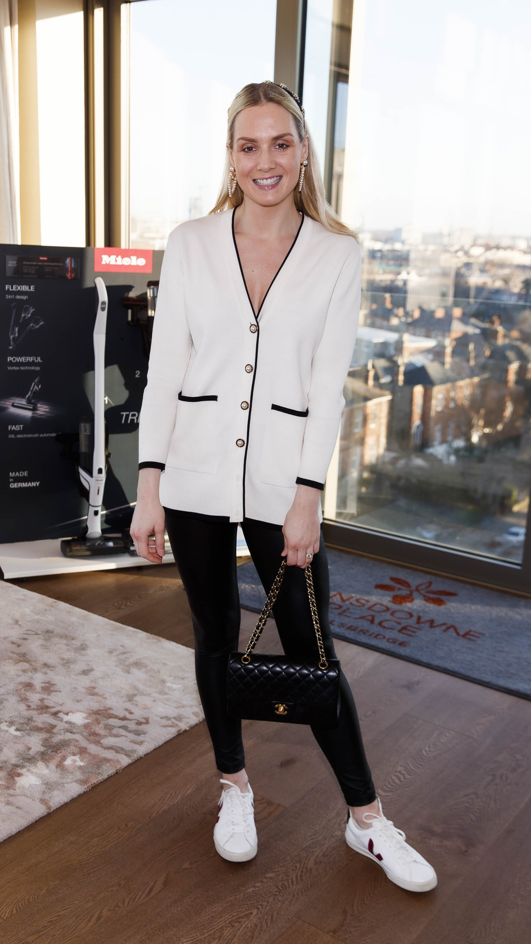 Judy Gilroy pictured at the launch of Miele Triflex. The world's leading manufacturer of cylinder vacuum cleaners, Miele, unveiled its first ever cordless handstick model at the stunning Landsdowne Place penthouse. Hosted by Miele managing director, Pat McGrath and in conversation with Dermot Bannon and Ciara Elliott, guests experienced the ultimate cordless vacuum cleaner, which is available in all major retailers from €499. Picture Andres Poveda