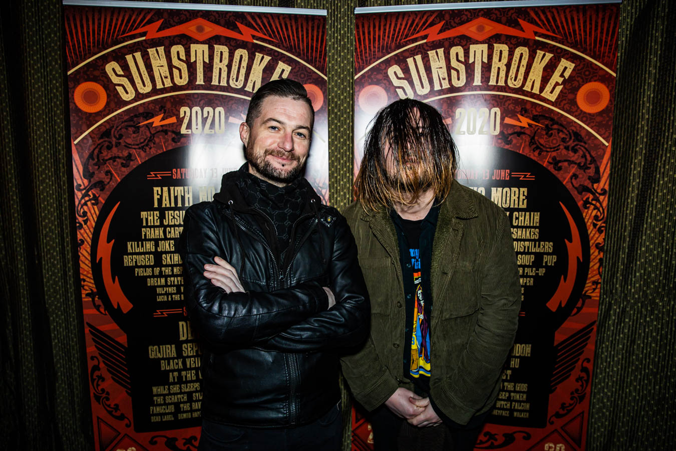 Fergal Darcy of TodayFM and Stevin King of Fangclub at Sunstroke Launch 2020 . ©Glen Bollard / MCD