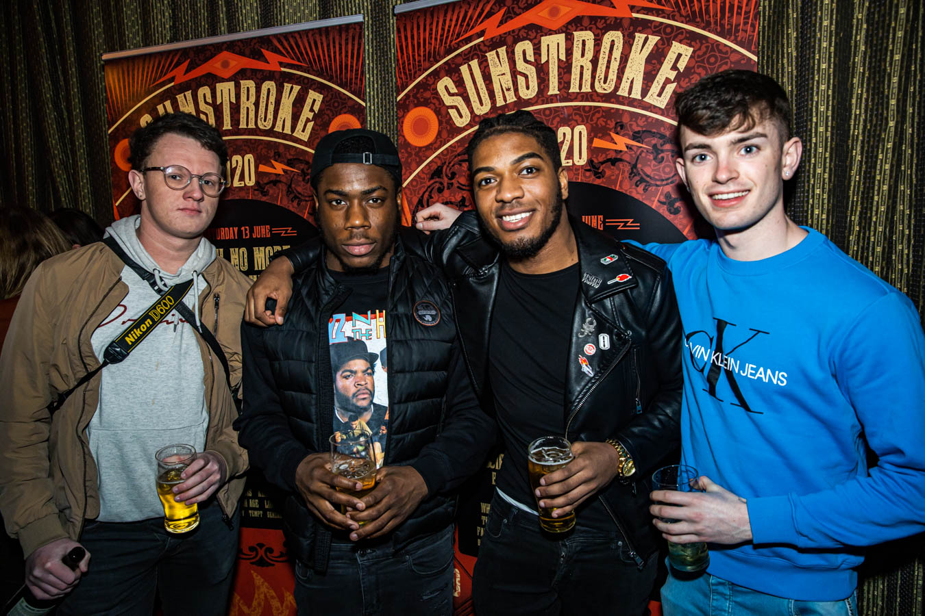 Ryan, Junior Echeruwe, Mubby D. Bankole, Jason Murphy at Sunstroke Launch 2020. ©Glen Bollard / MCD