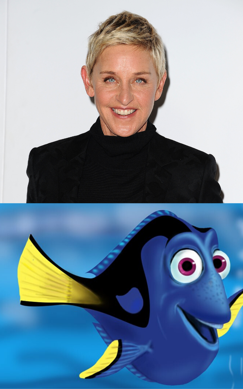 Ellen Degeneres famously voiced Dory in Disney's 'Finding Nemo' in 2003, and the sequel 'Finding Dory' in 2016.  Photo by Jason LaVeris/FilmMagic via Getty Images/@2003 Disney All Rights Reserved.