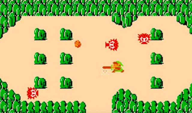 This screenshot of 'Legend of Zelda' is approximately 2.5 times the size of the original game's code.