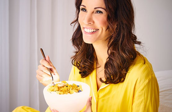 Creating tasty viral videos for Kellogg's with Andrea McLean.