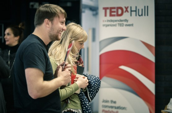 Behind the scenes at TEDx Hull 2018.