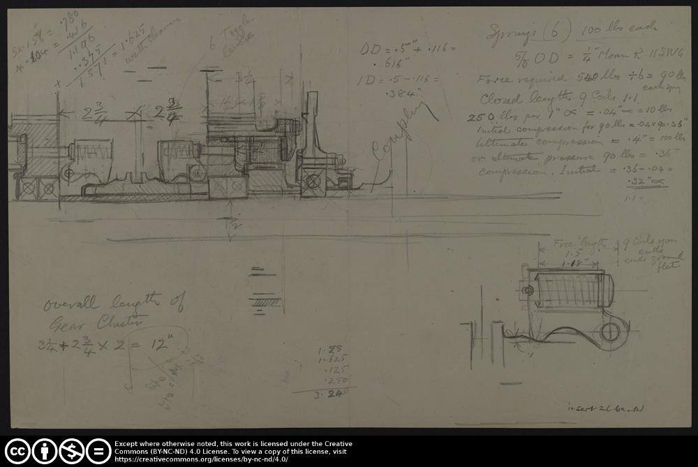 Draughtsman's sketch book no  28 page 96 insert 2 (back