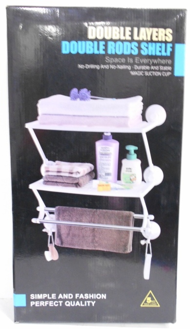 DOUBLE LAYERS DOUBLE RODS SHELF