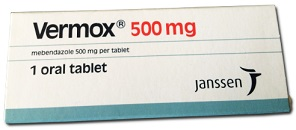VERMOX 500mg TABLETS (BY 1 TABLET)