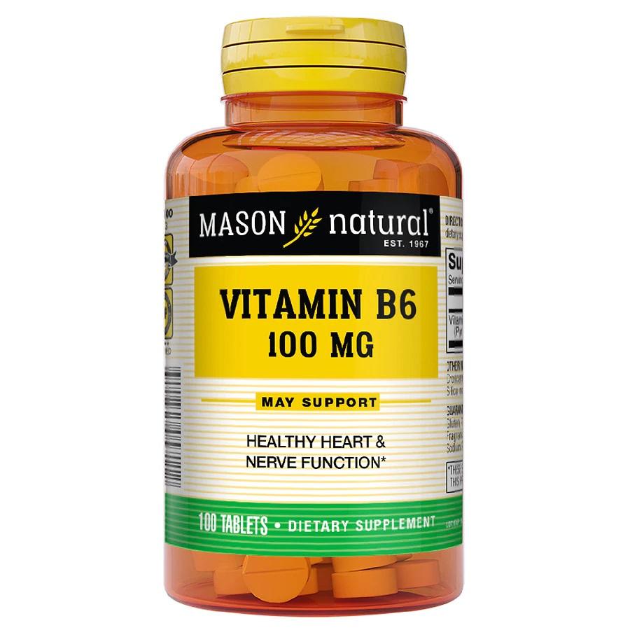 MASON NATURAL VITAMIN B6 100MG