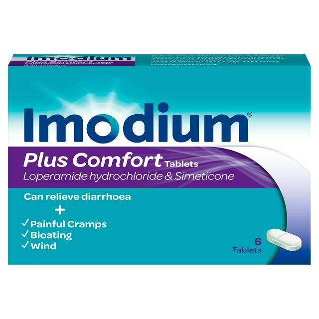 IMODIUM PLUS COMFORT x6 (PACK OF 6 TABS)
