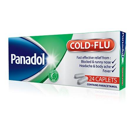 PANADOL COLD + FLU CAPLETS * CARD